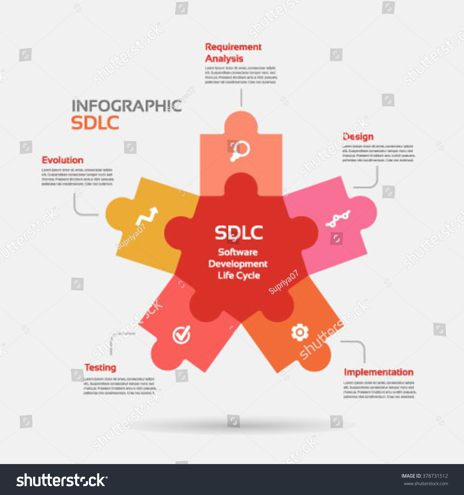 Star shape software development life cycle stock vector 378731512 star shape software development life cycle infographic colorful vector nvjuhfo Image collections