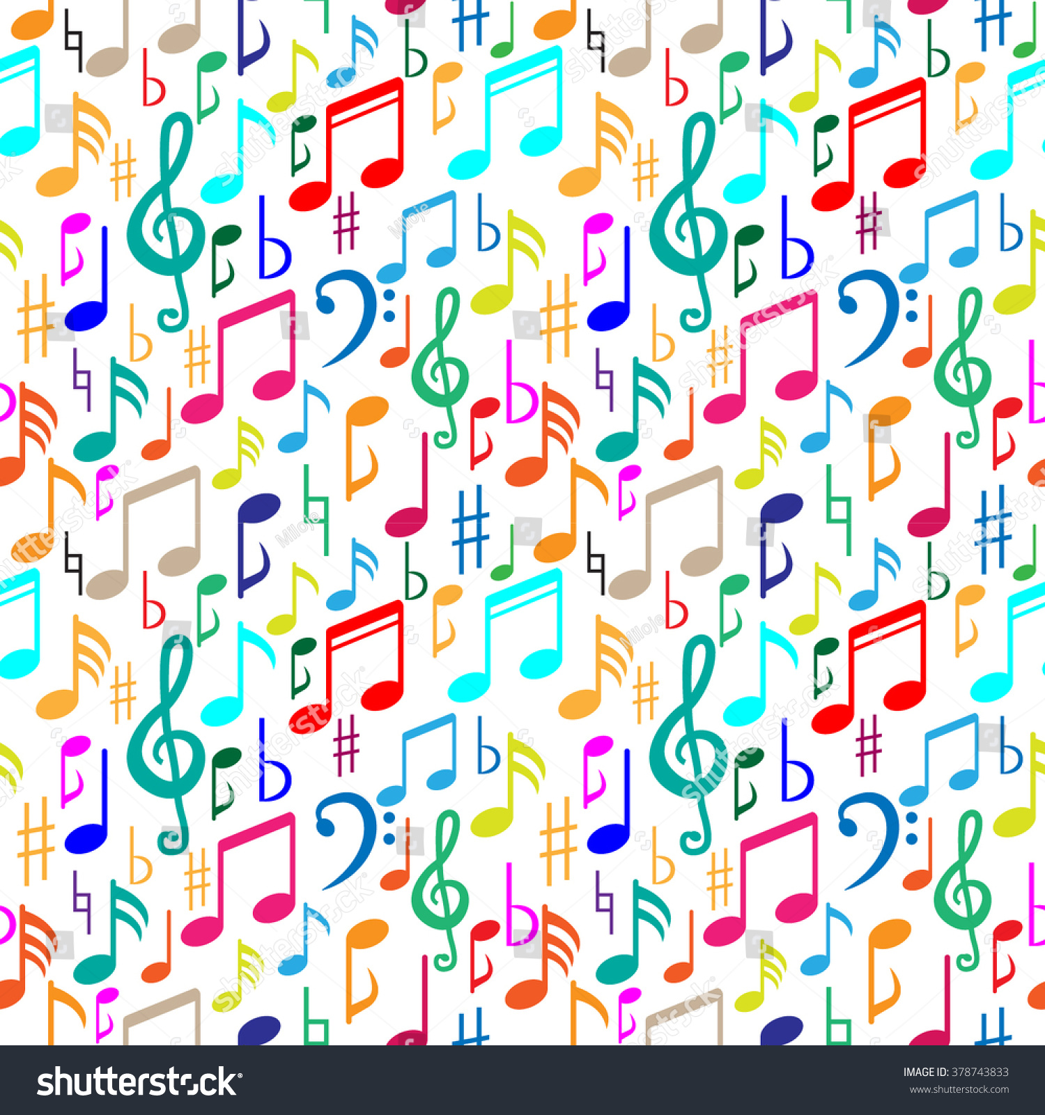 Music Note Pattern Interesting Design