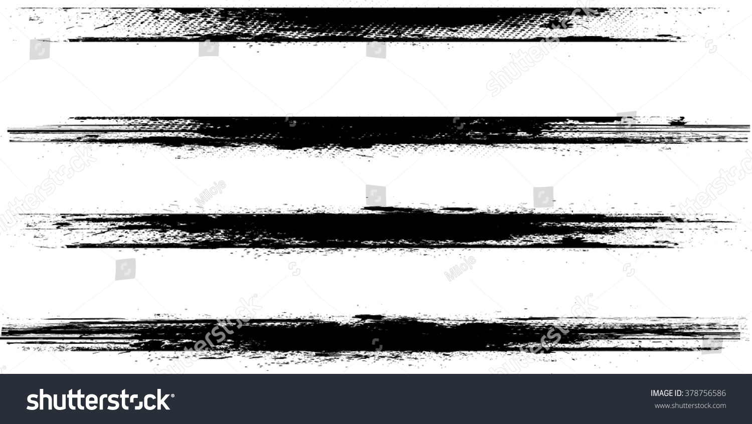Royalty Free Brush Stroke Collection Grunge Lines