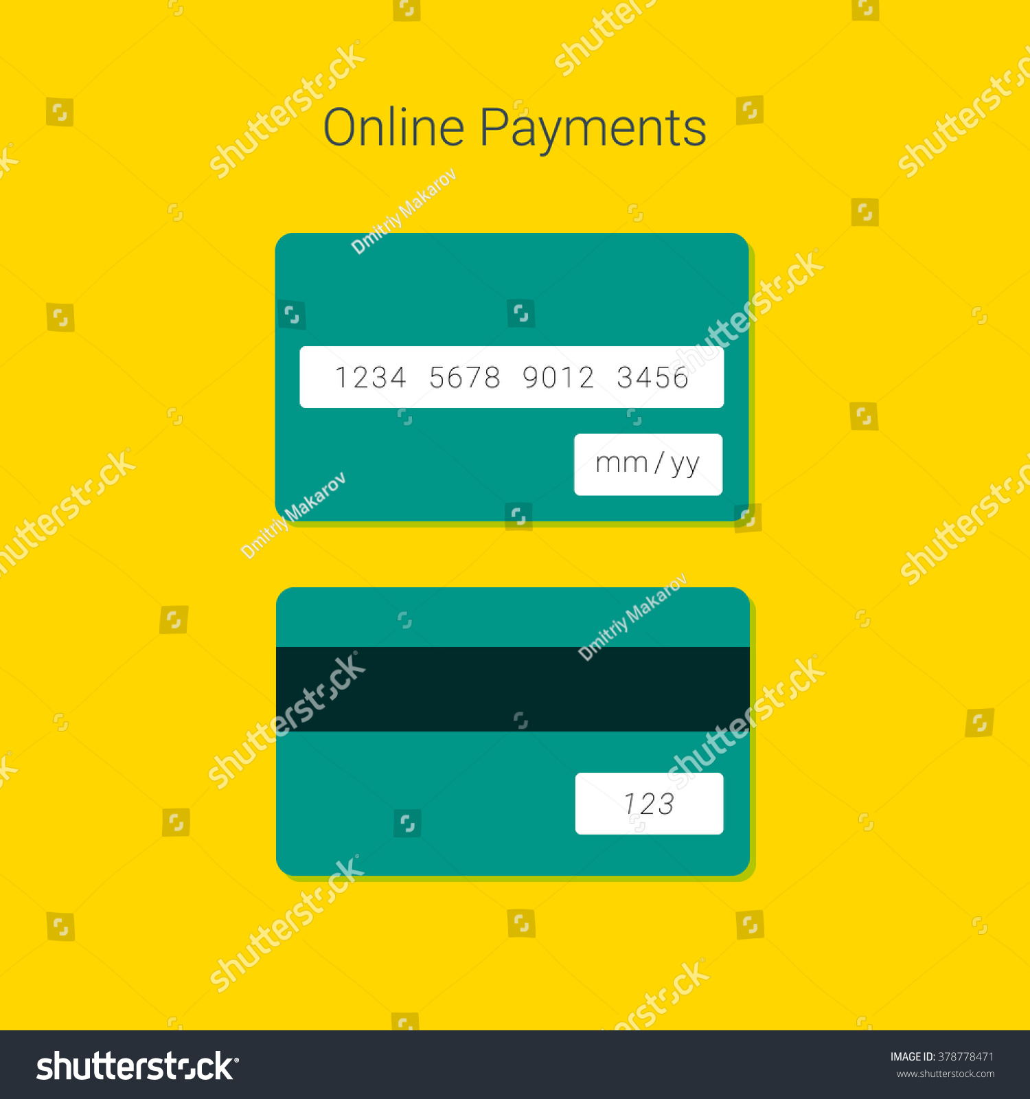Online Payment Form Template Vector Credit Vector 378778471 – Payment Form Template