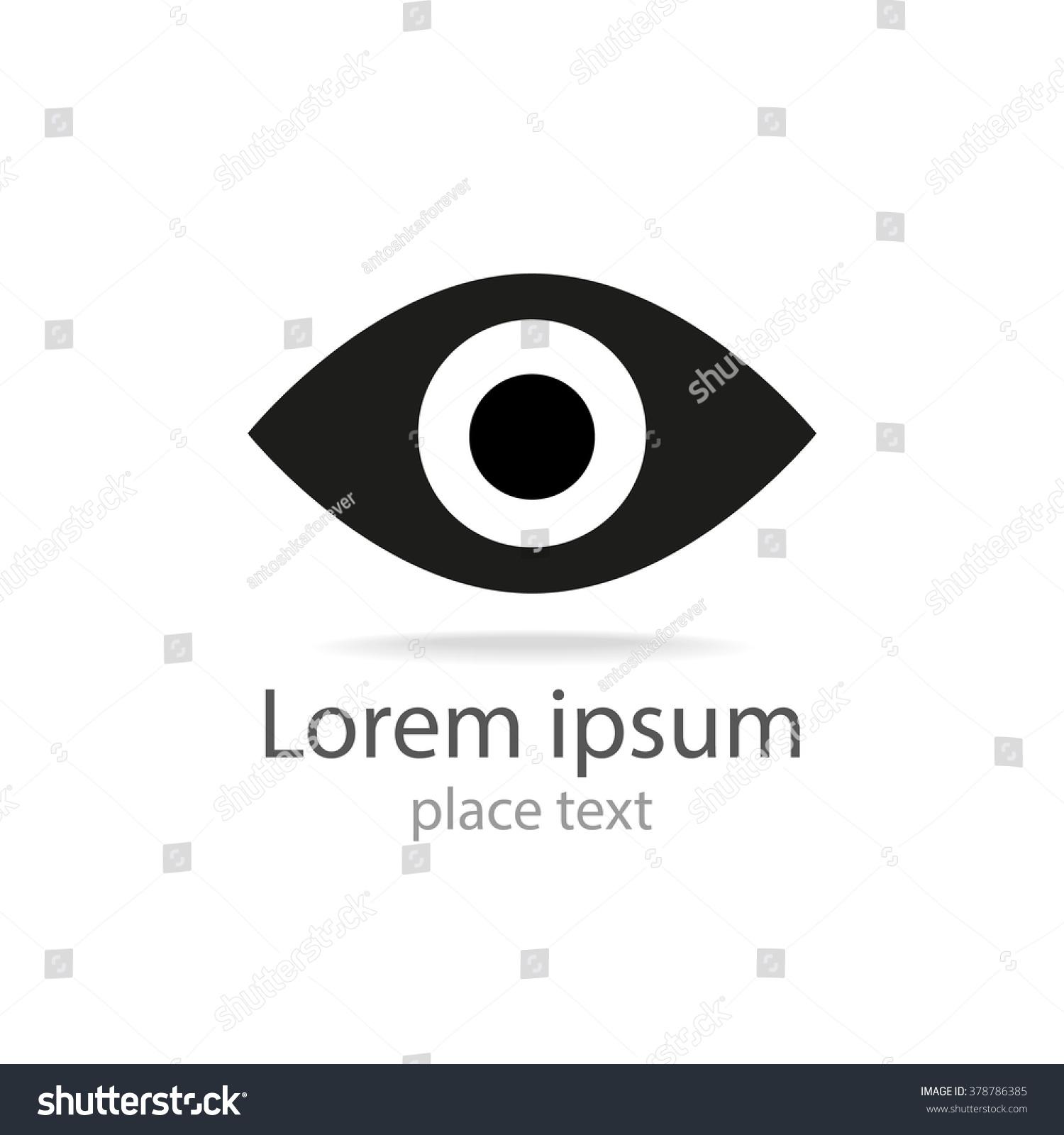 Eye Icon Template Logo Design Eye Stock Illustration 378786385