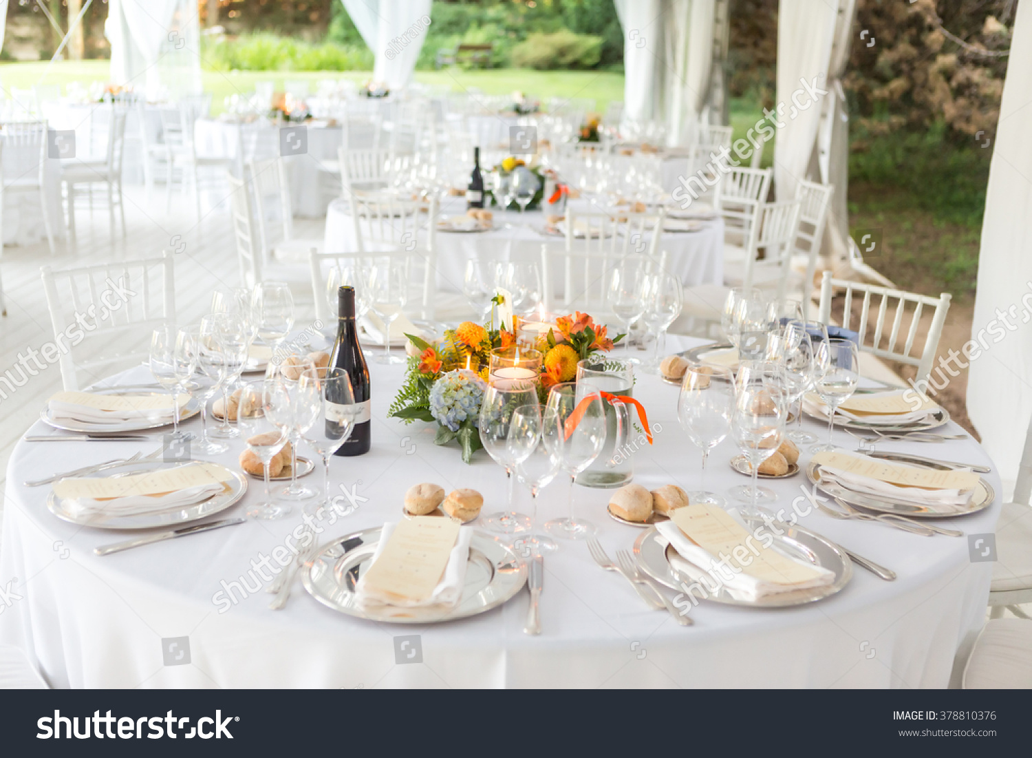 Outdoor Wedding Reception Tent Stock Photo Edit Now