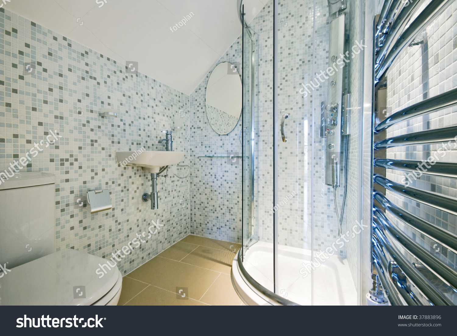 Modern Luxury Ensuite Bathroom Shower Wc Stock Photo (Safe to Use ...