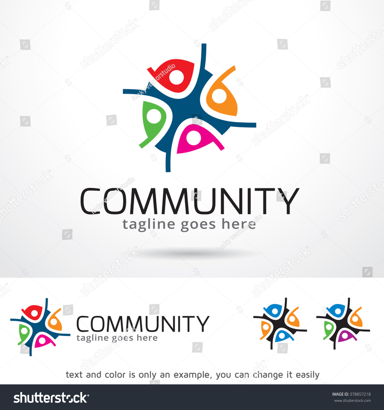 Community Logo Template Design Vector Stock Vector 378857218 ...