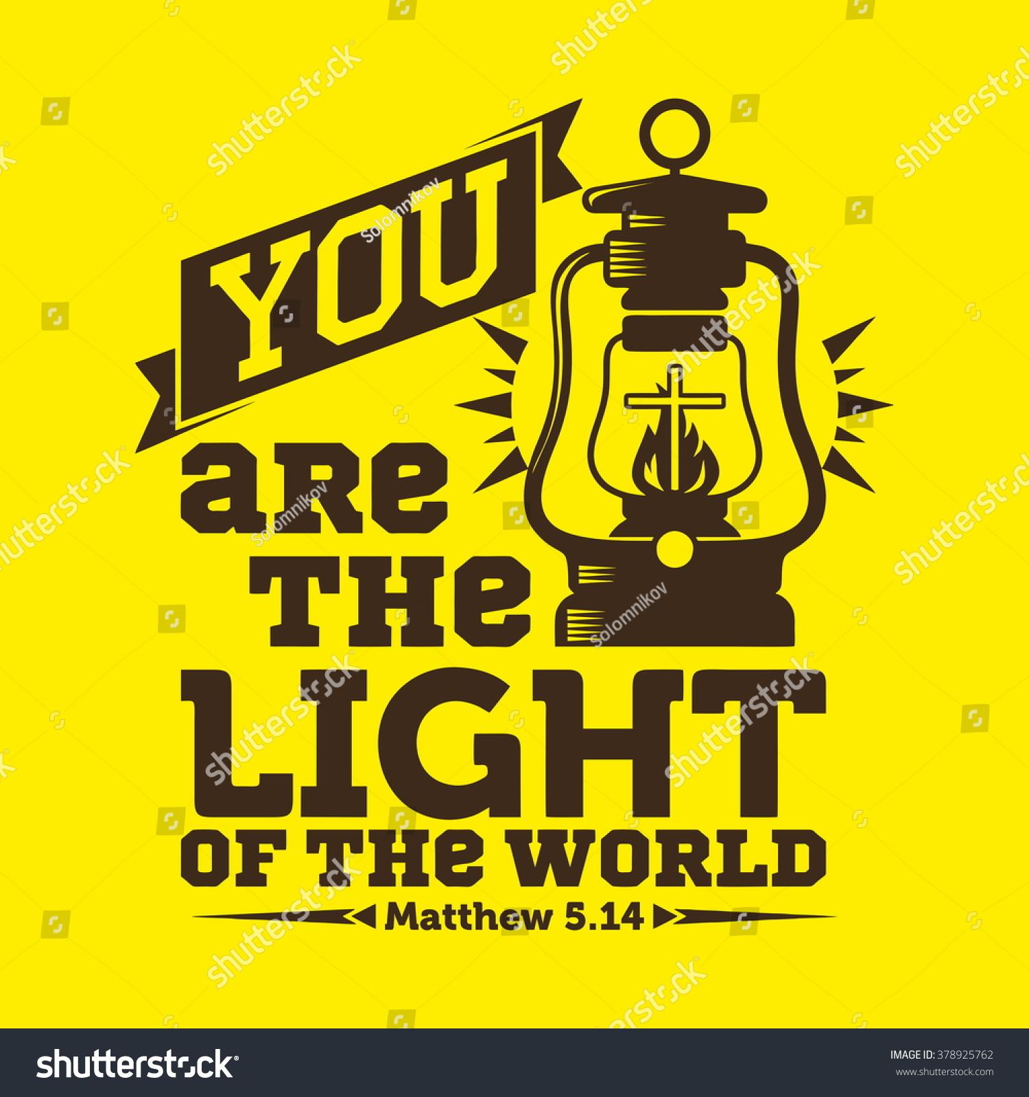 bible typographycs you light world stock vector 378925762 free clipart prayer warriors Free Prayer Clip Art Religious
