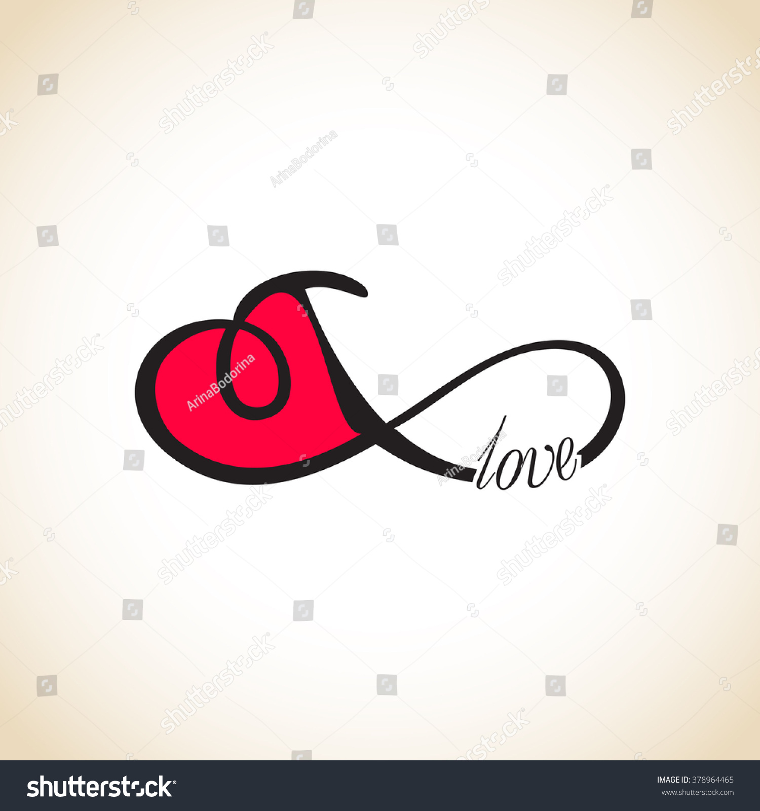 Infinity Love Forever Love Stock Vector (Royalty Free) 378964465 ...