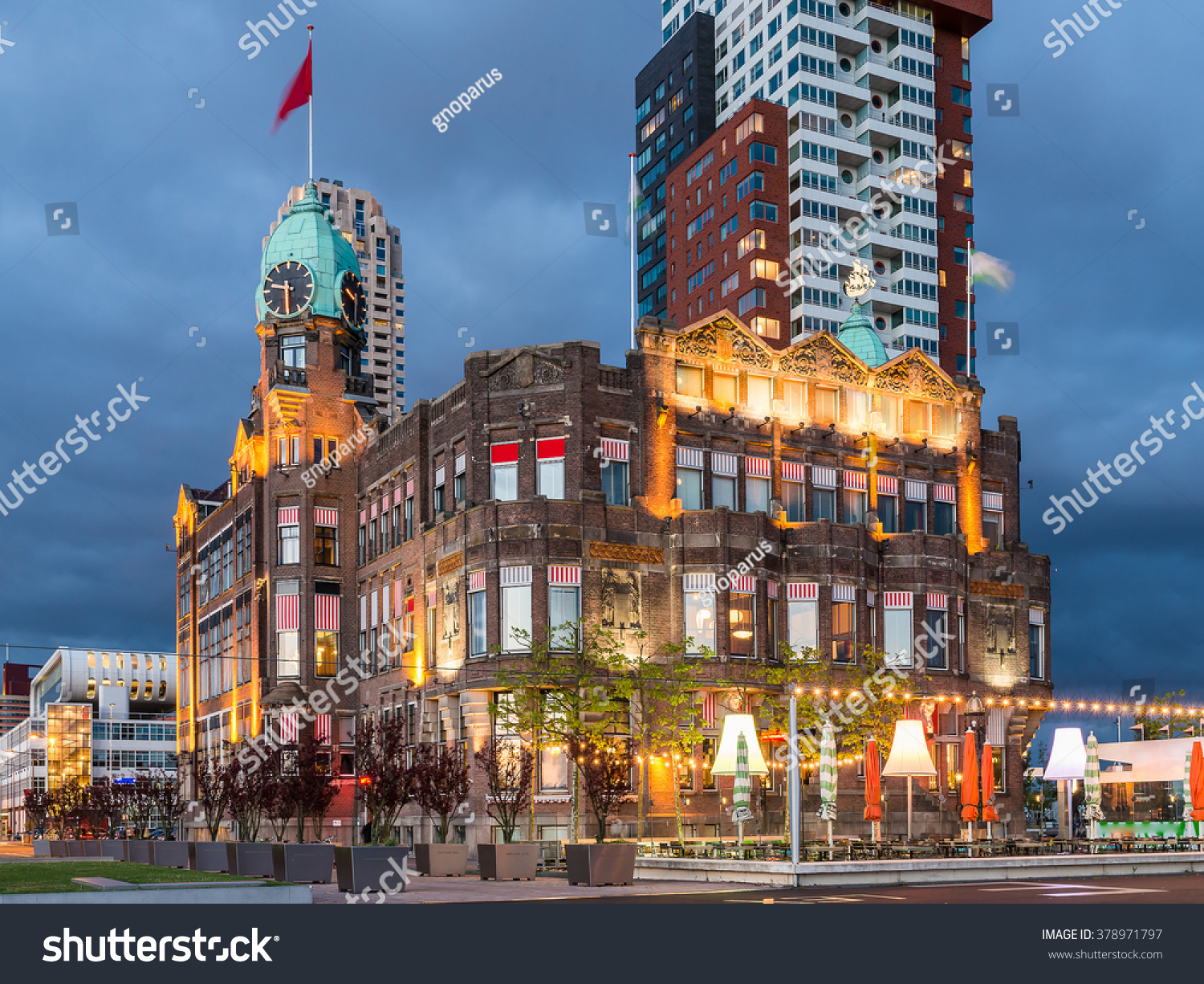 Rotterdam city hotel new york famous stock photo 378971797 for Famous hotel in new york