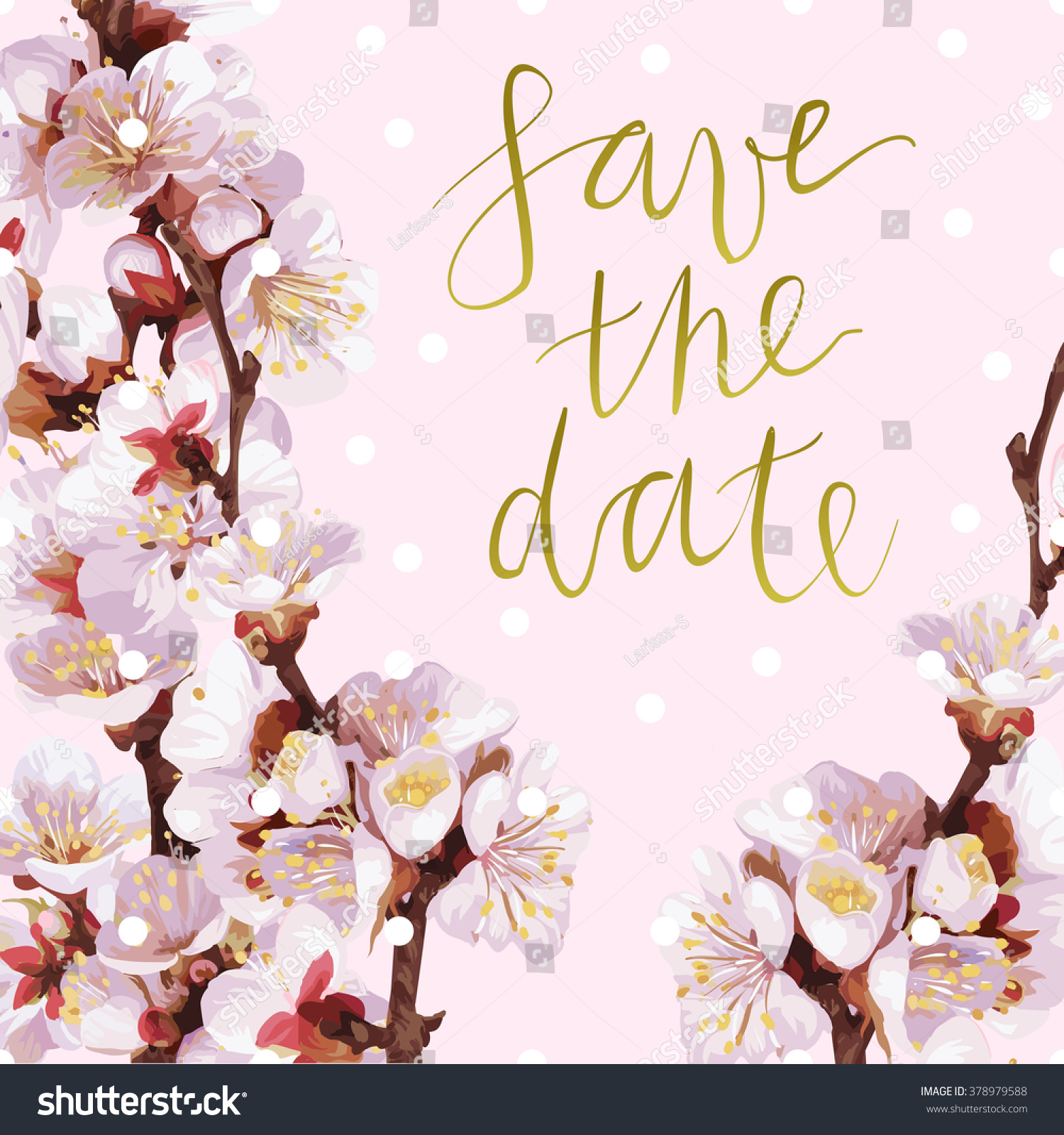 Vector Invitation Template Save Date Hand Stock Vector (Royalty Free ...