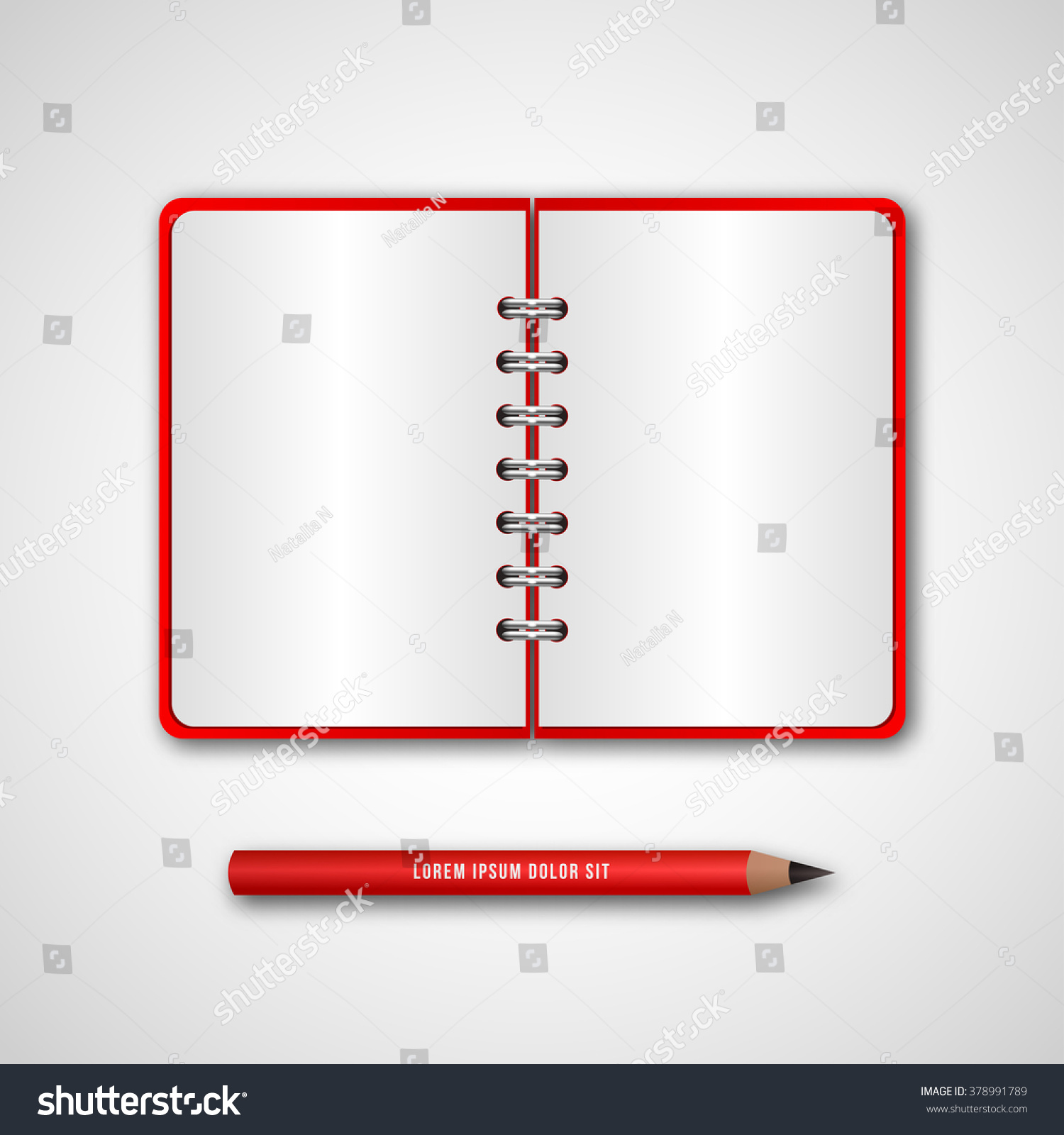 Red cover diary pencil business binder stock vector 378991789 red cover diary pencil business binder stock vector 378991789 shutterstock flashek Images