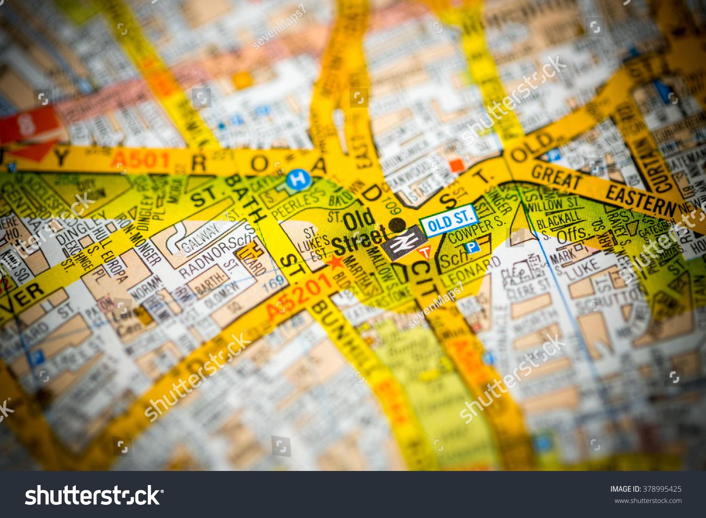 Old Street London Map.Old Street London Uk Map Stock Photo Edit Now 378995425 Shutterstock