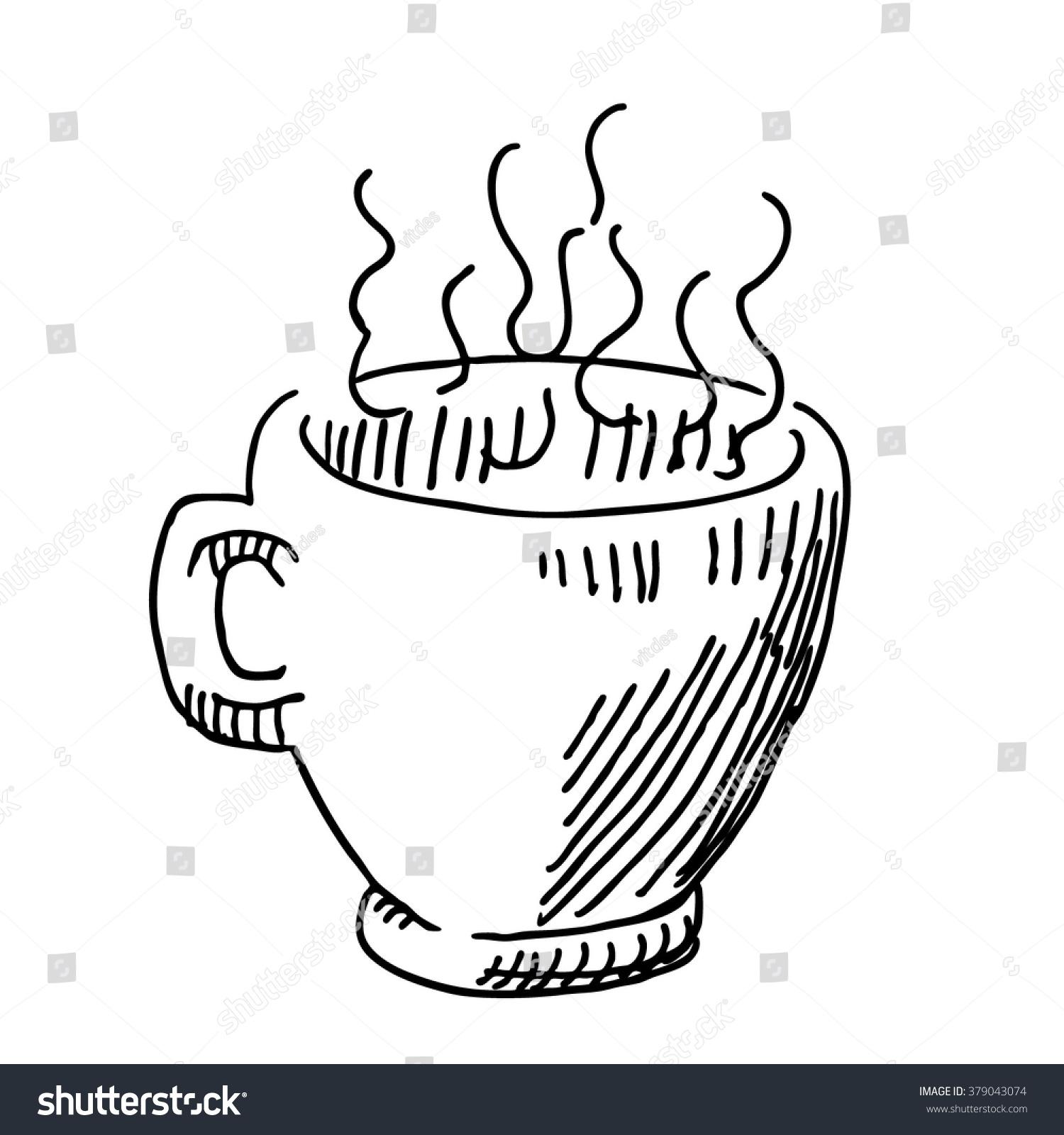 coffee espresso tea mug cup food stock vector 379043074