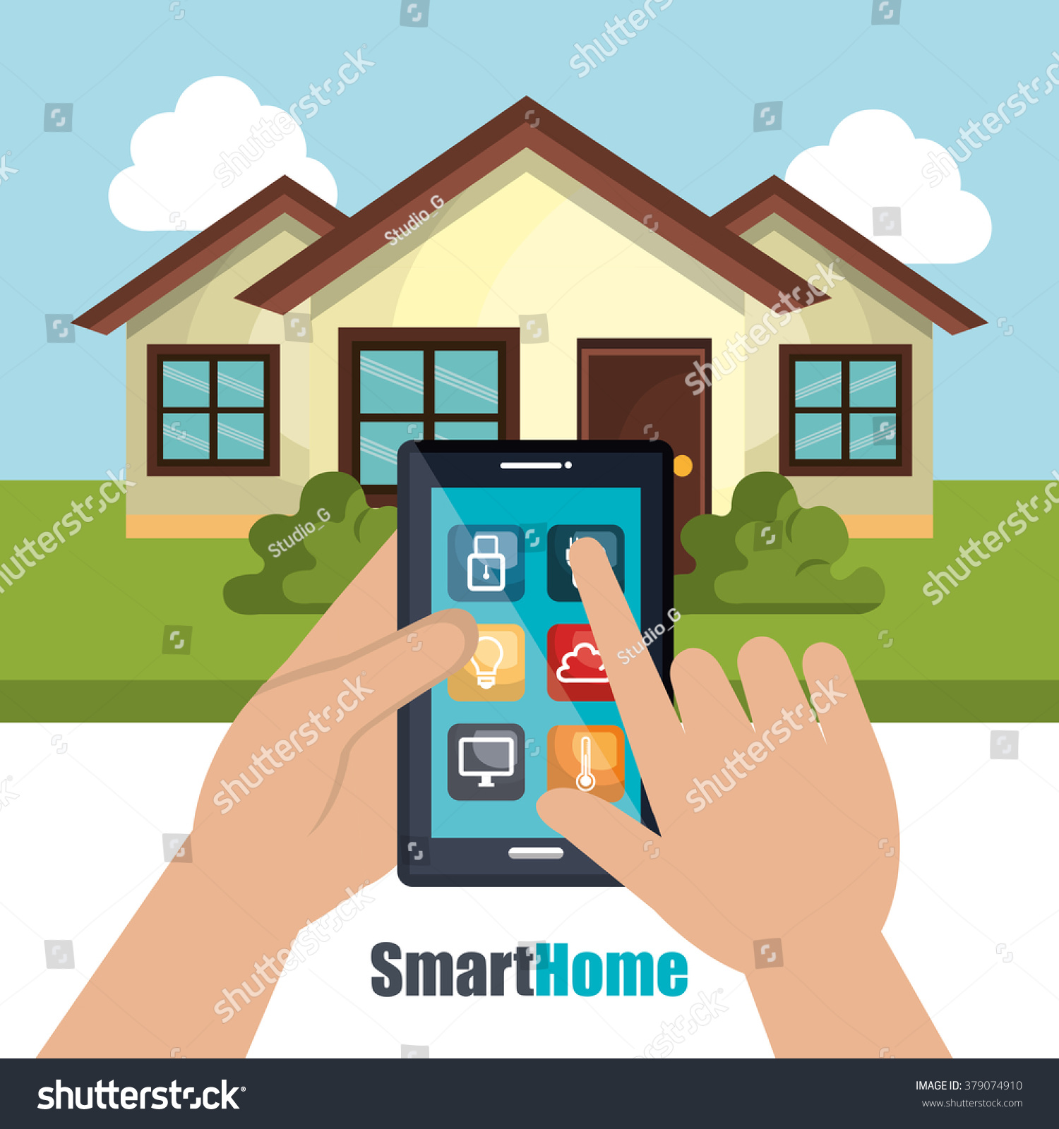 Smart Home Design Stock Vector Shutterstock