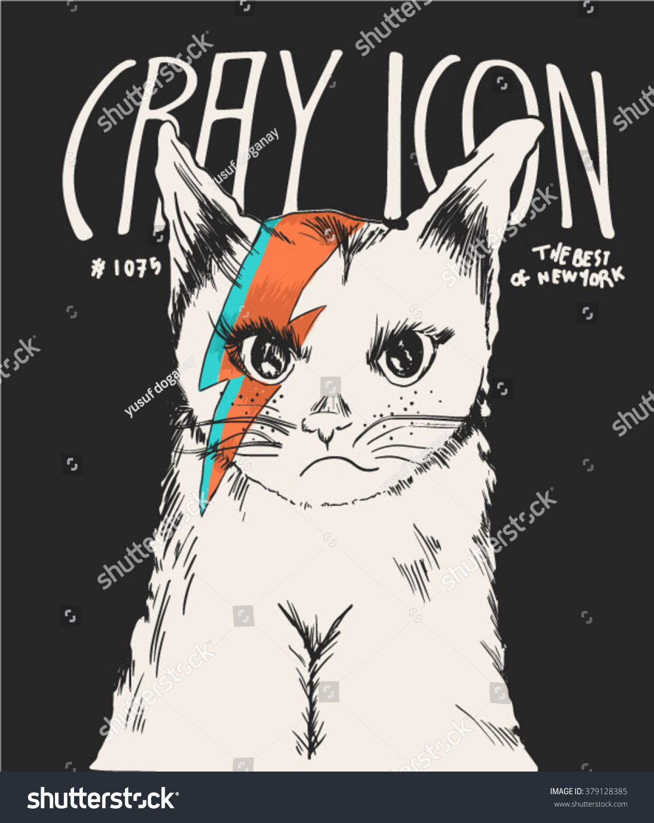 cutie fashion cat illustration