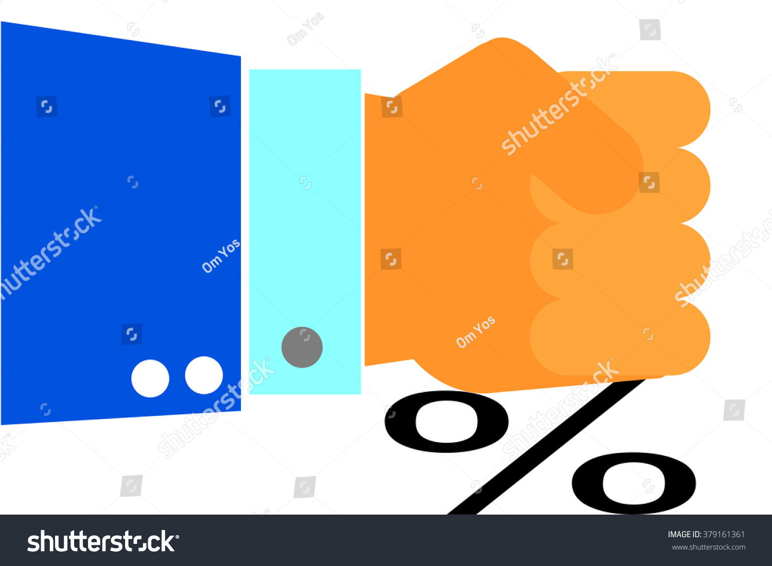 Hand Press Percentage Stock Vector Royalty Free 379161361 Orange Themed Circuit Board Drawing Clipart Illustration