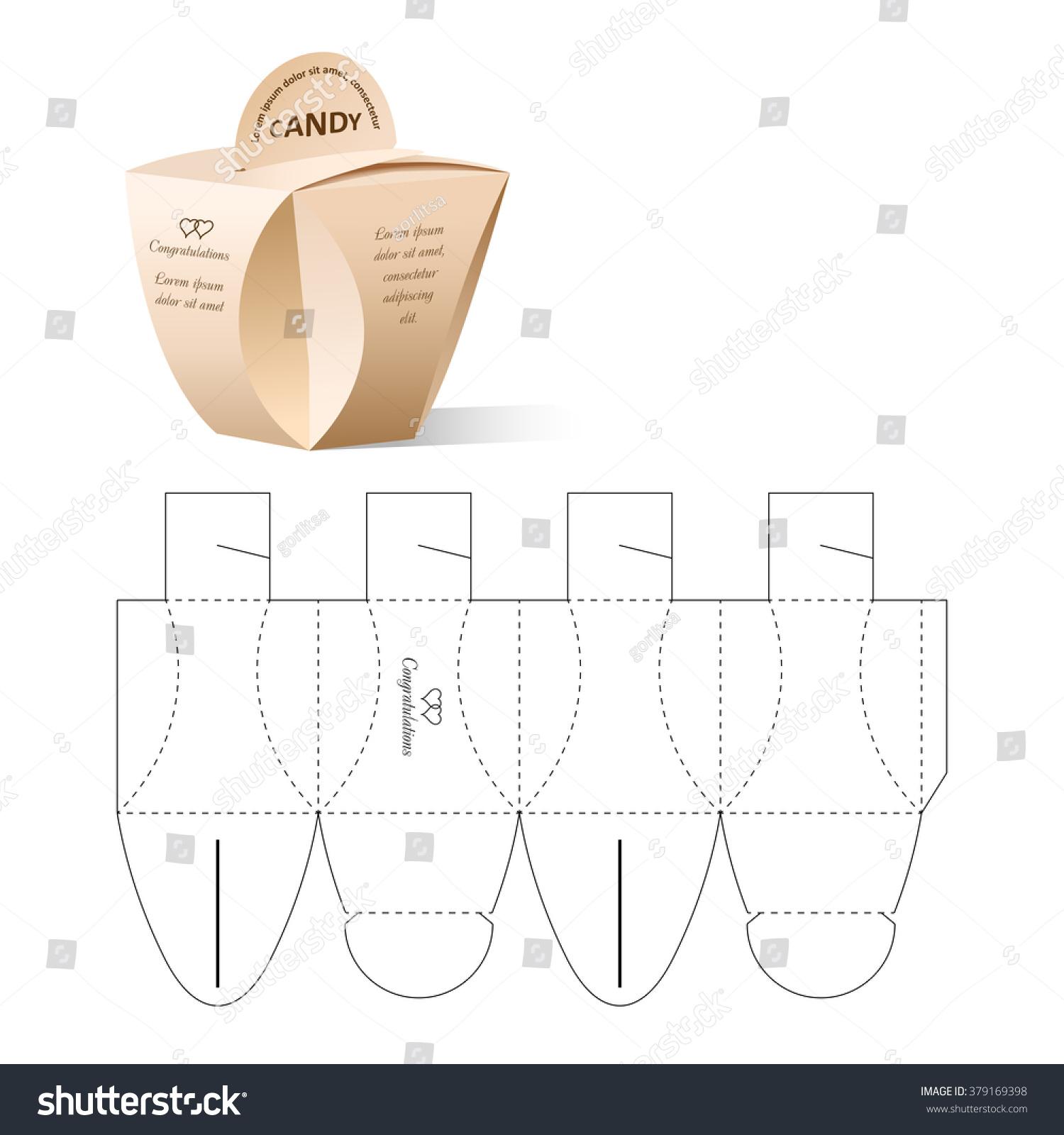 Retail box blueprint template vector de stock379169398 shutterstock retail box with blueprint template malvernweather Images