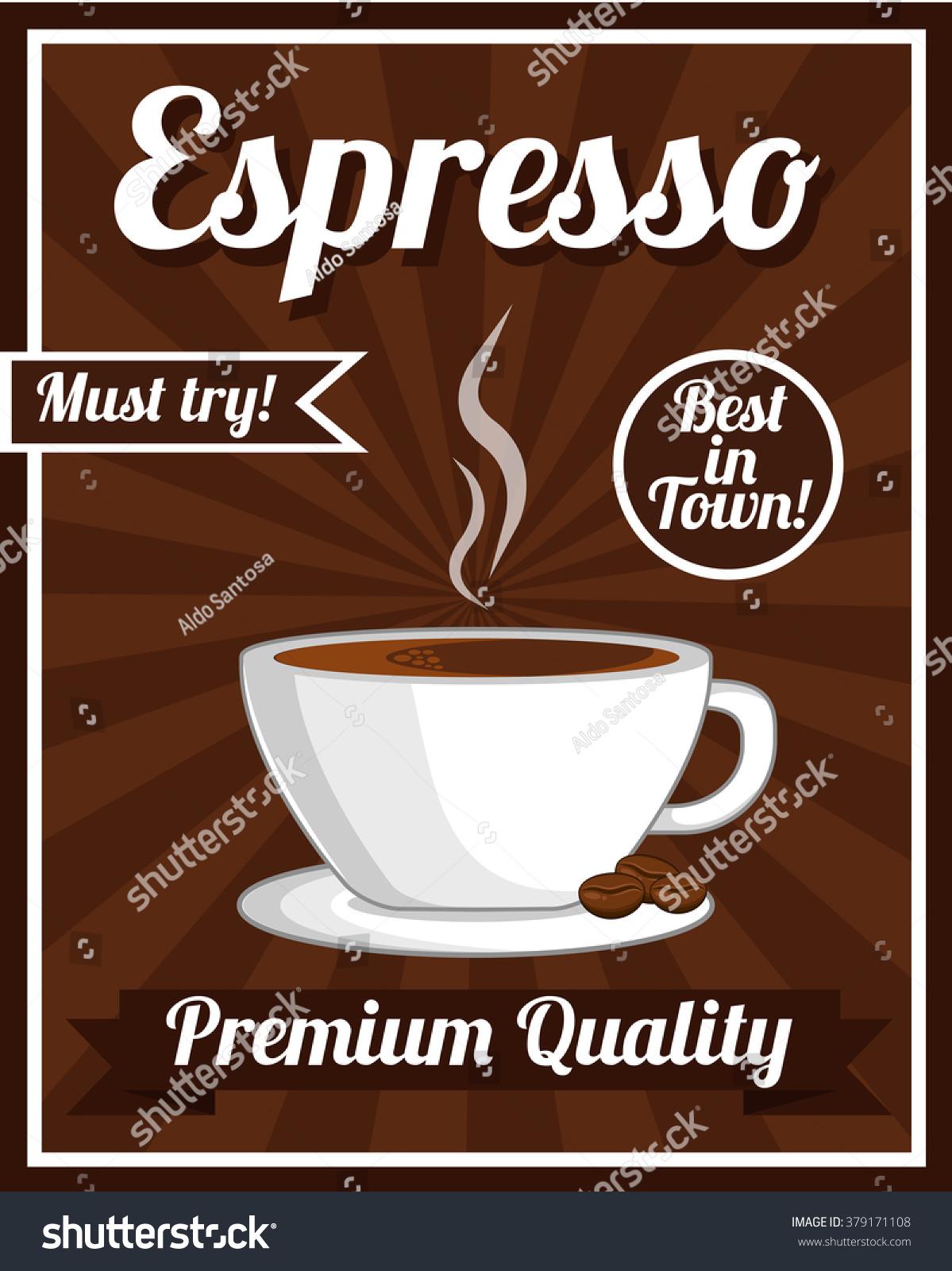 Espresso Poster Stock Vector 379171108 - Shutterstock