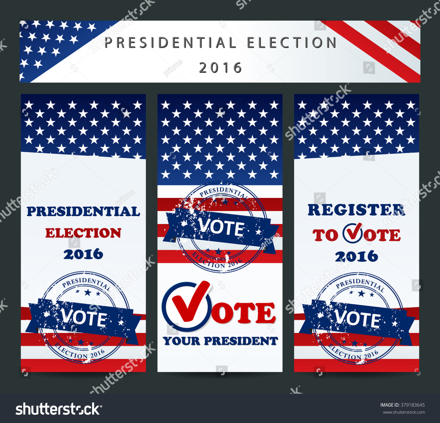 Presidential election vote your president usa stock vector for For how long do we elect the president