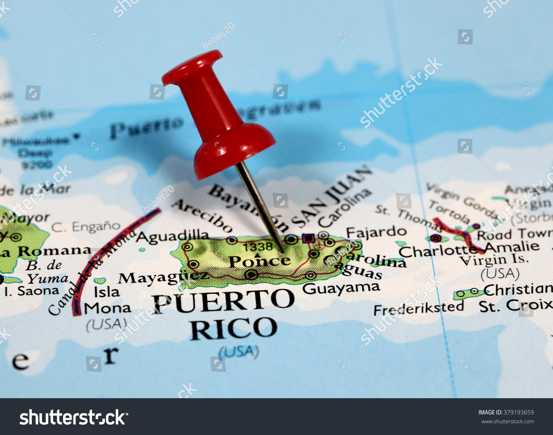 Map Pin Point Puerto Rico Caribbean Stock Photo Map Of Puerto Rico And Usa