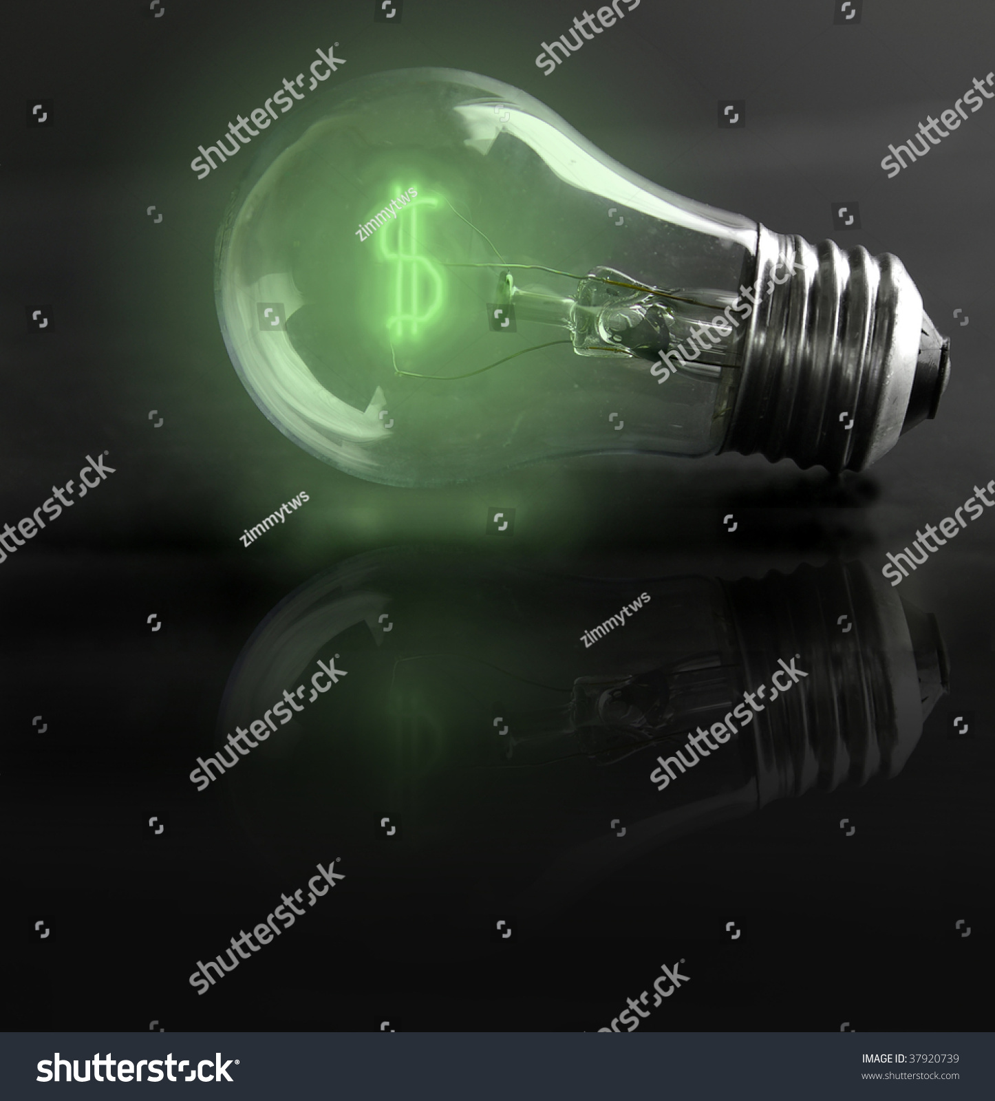 Light Bulb Money Sign Energy Costs Stock Photo 37920739 Shutterstock
