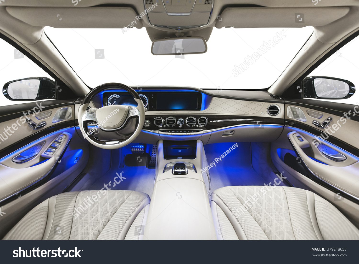 royalty free car interior luxury interior of 379218658 stock photo. Black Bedroom Furniture Sets. Home Design Ideas