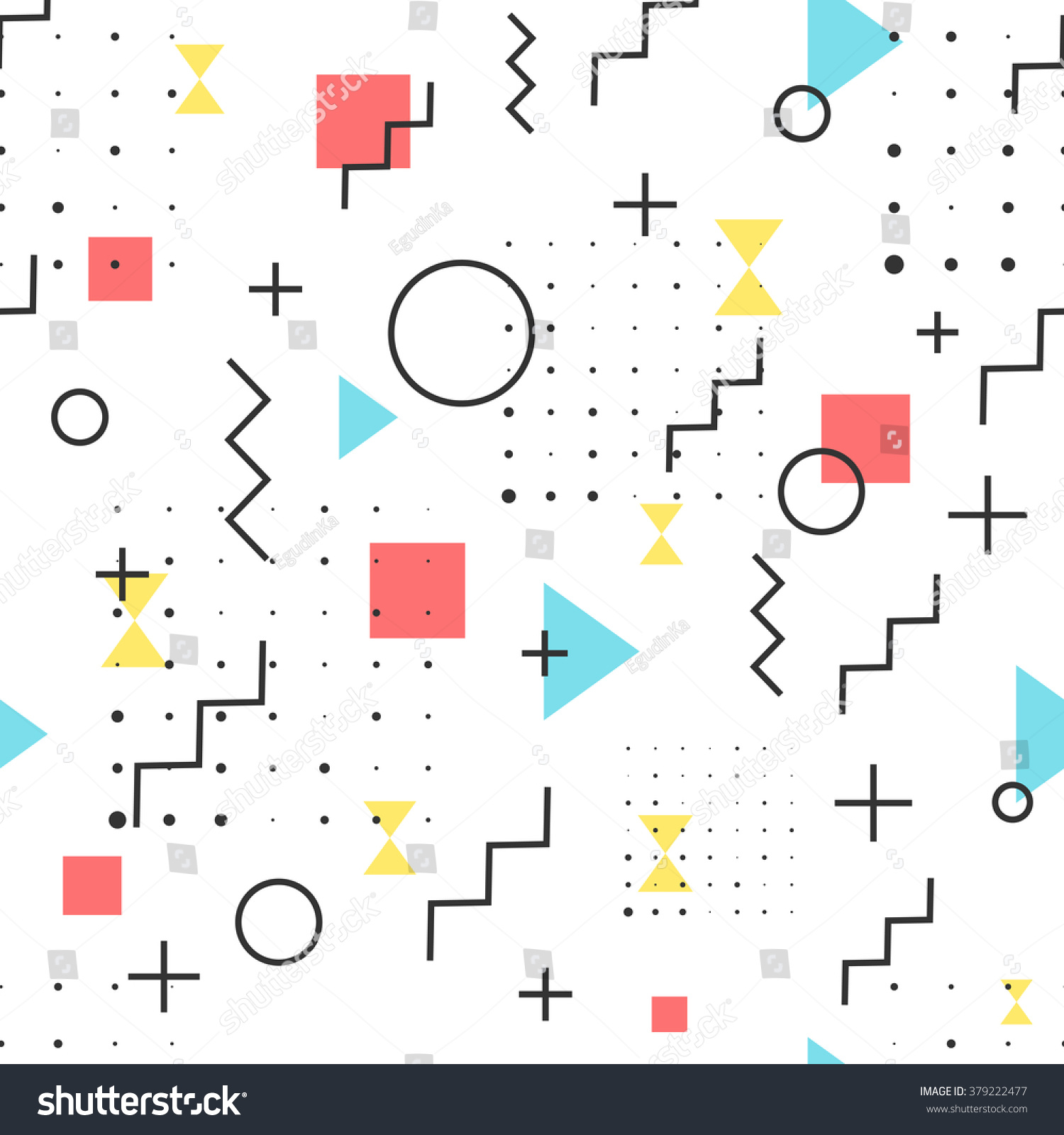 Lines And Shapes : Hipster pattern abstract retro s jumble stock vector