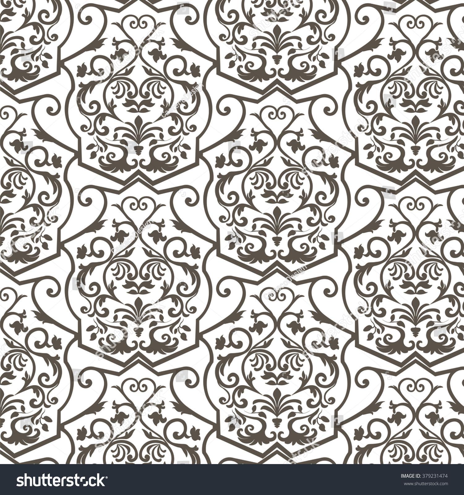Vector Vintage Empire Motif Ornament Pattern Stock Vector ...