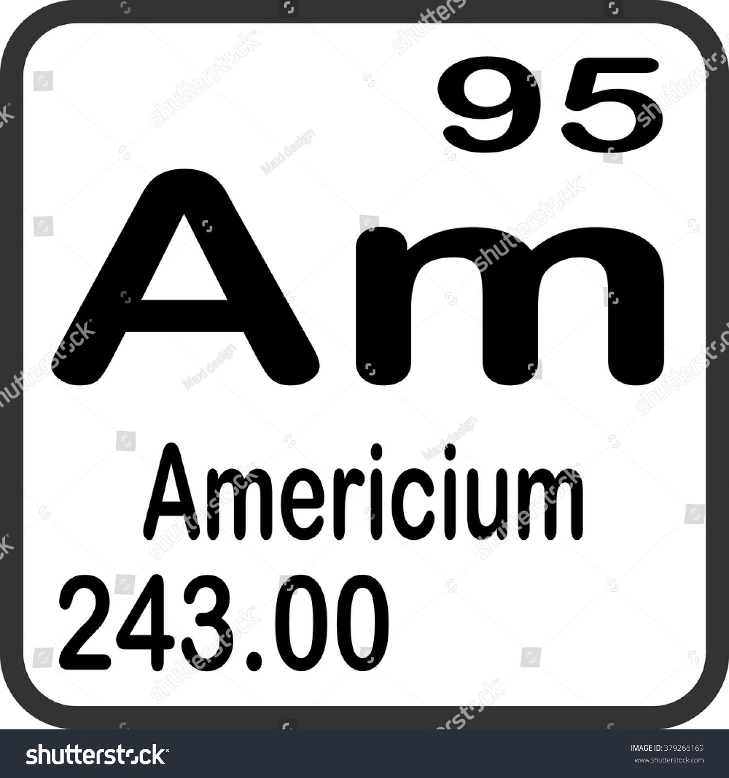 Periodic table elements americium stock vector 379266169 periodic table of elements americium gamestrikefo Gallery