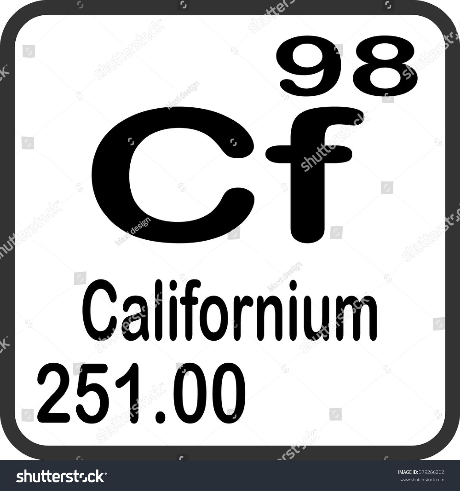 Periodic table elements californium stock vector 379266262 periodic table of elements californium gamestrikefo Images