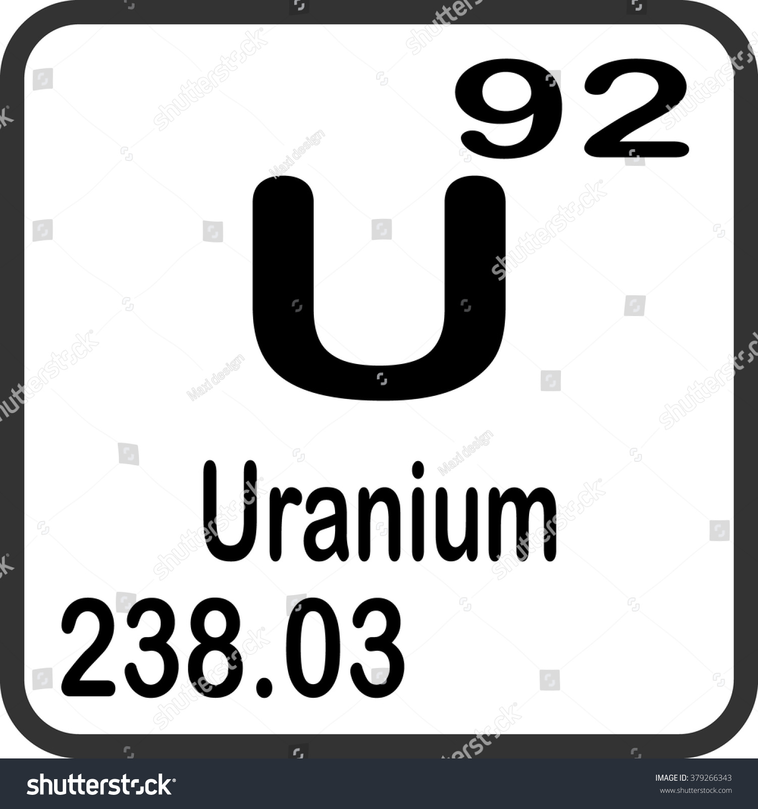 Periodic table elements uranium stock vector 379266343 shutterstock periodic table of elements uranium gamestrikefo Image collections