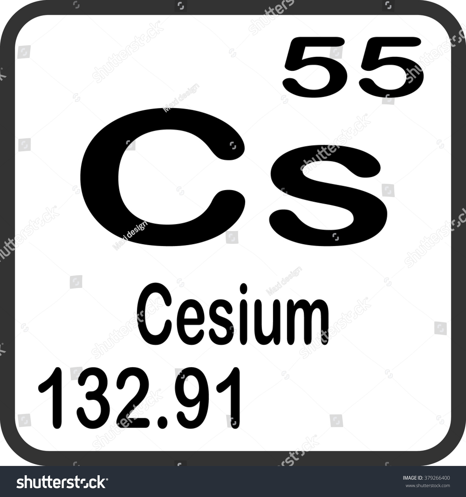 Periodic table elements cesium stock vector 379266400 shutterstock periodic table of elements cesium gamestrikefo Images