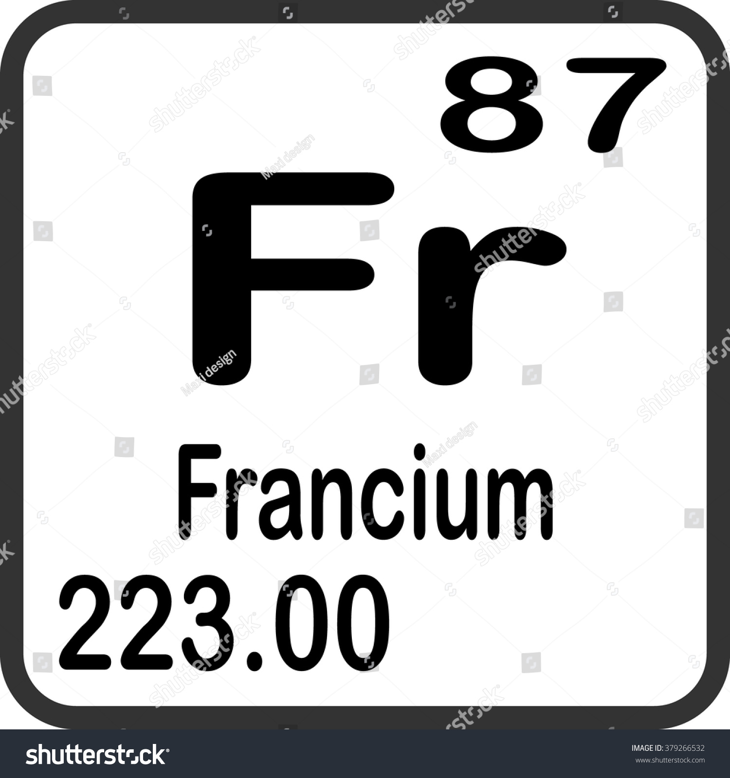 Periodic table cl gallery periodic table images francium on periodic table aviongoldcorp periodic table elements francium stock vector 379266532 shutterstock gamestrikefo gallery gamestrikefo Gallery