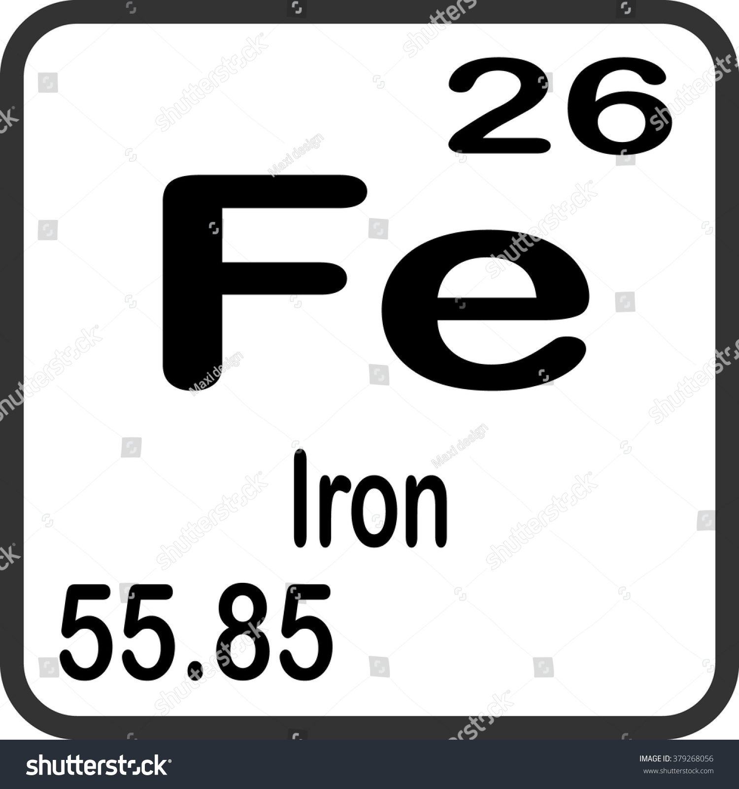 Periodic table elements iron stock vector 379268056 shutterstock periodic table of elements iron gamestrikefo Image collections