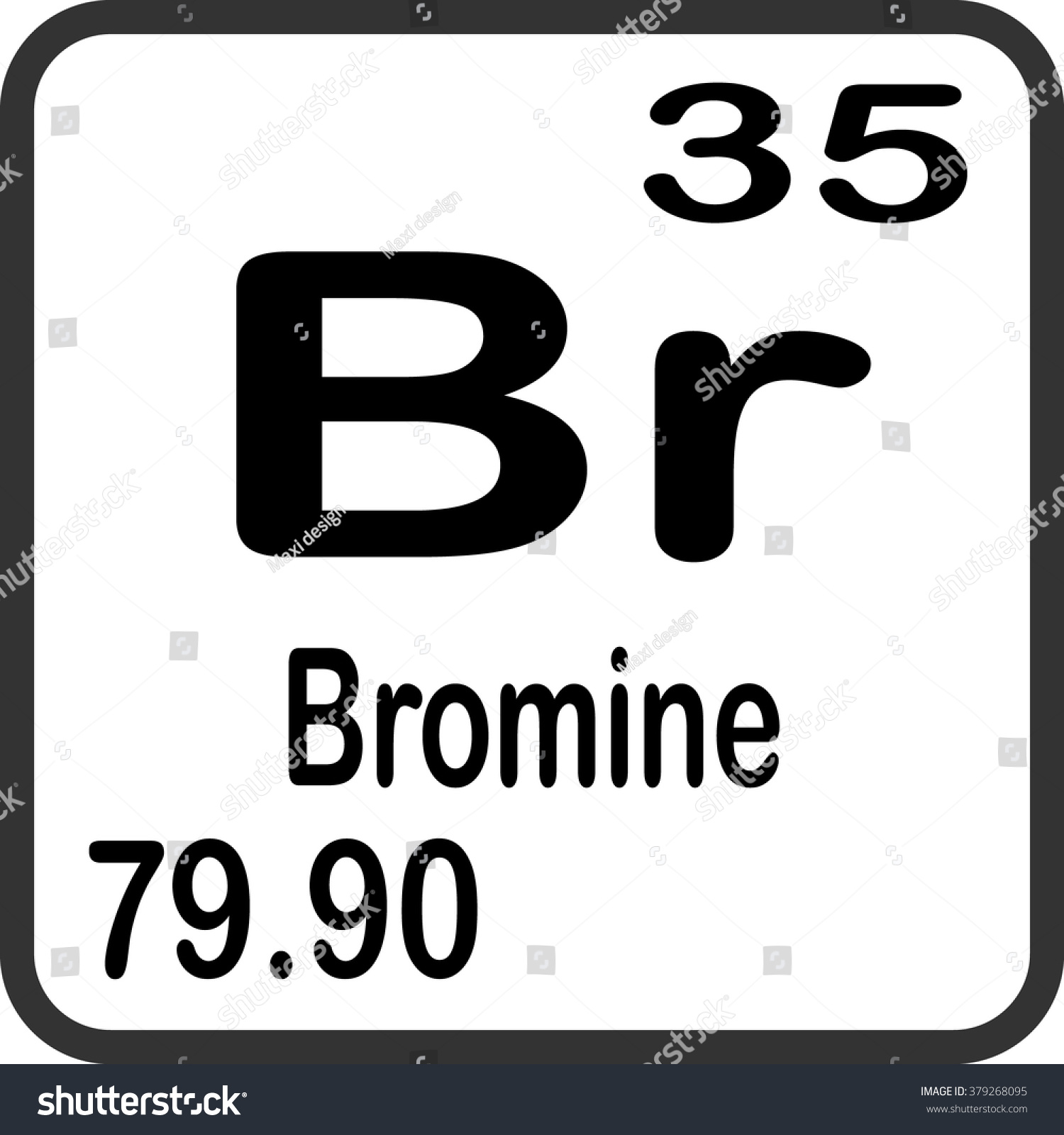 Periodic table elements bromine stock vector 379268095 shutterstock periodic table of elements bromine buycottarizona Choice Image