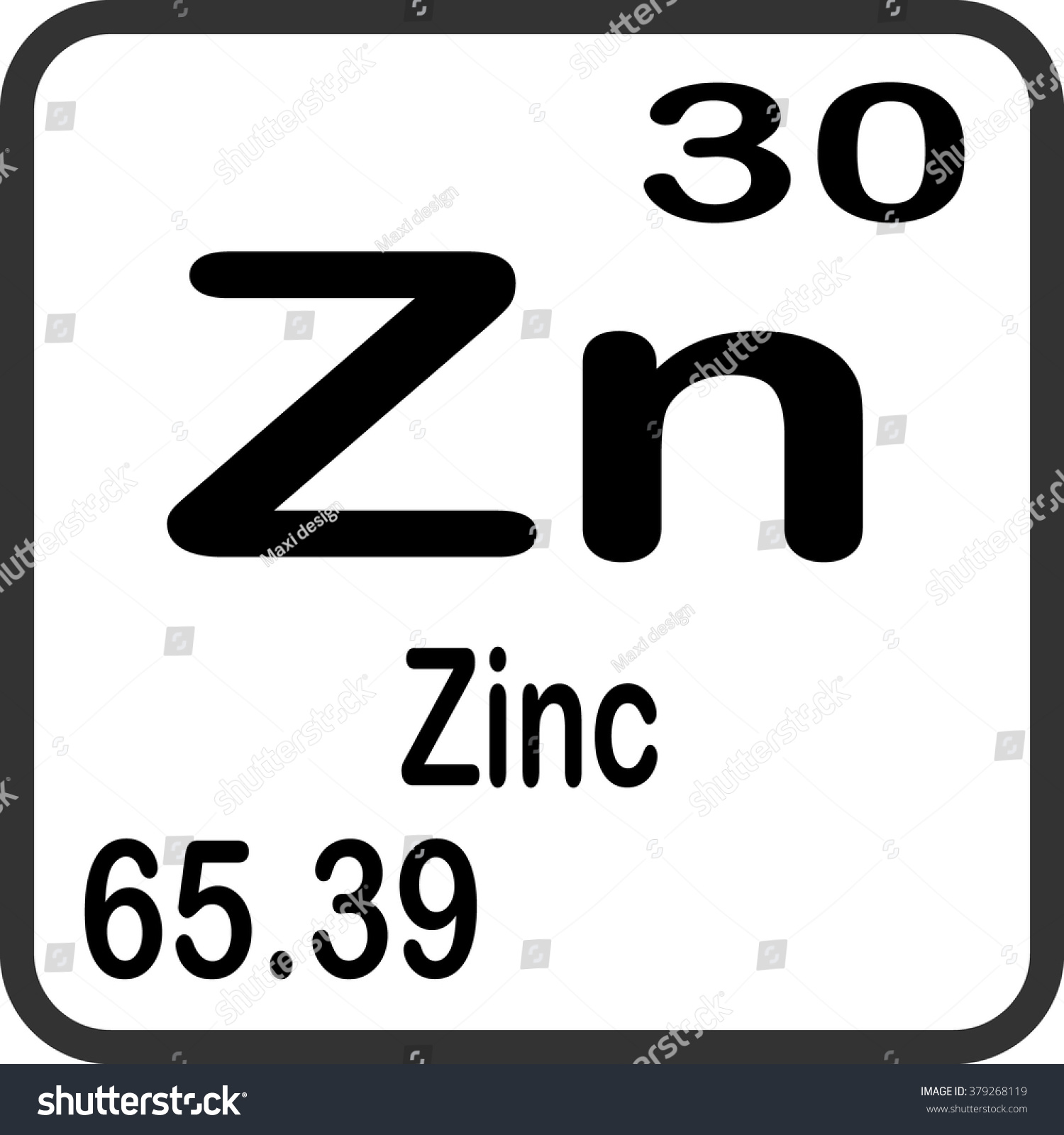 Periodic table elements zinc stock vector 379268119 shutterstock periodic table of elements zinc buycottarizona Gallery
