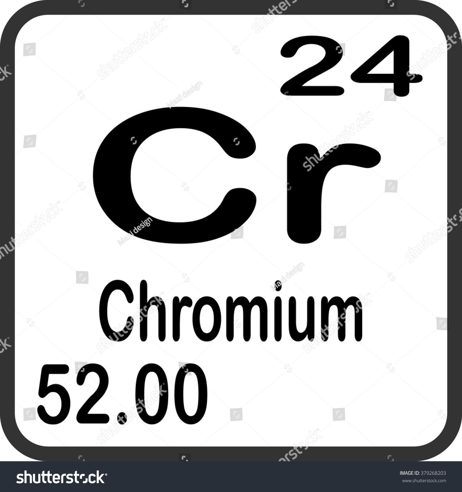 Periodic Table Elements Chromium Stock Vector 379268203 Shutterstock