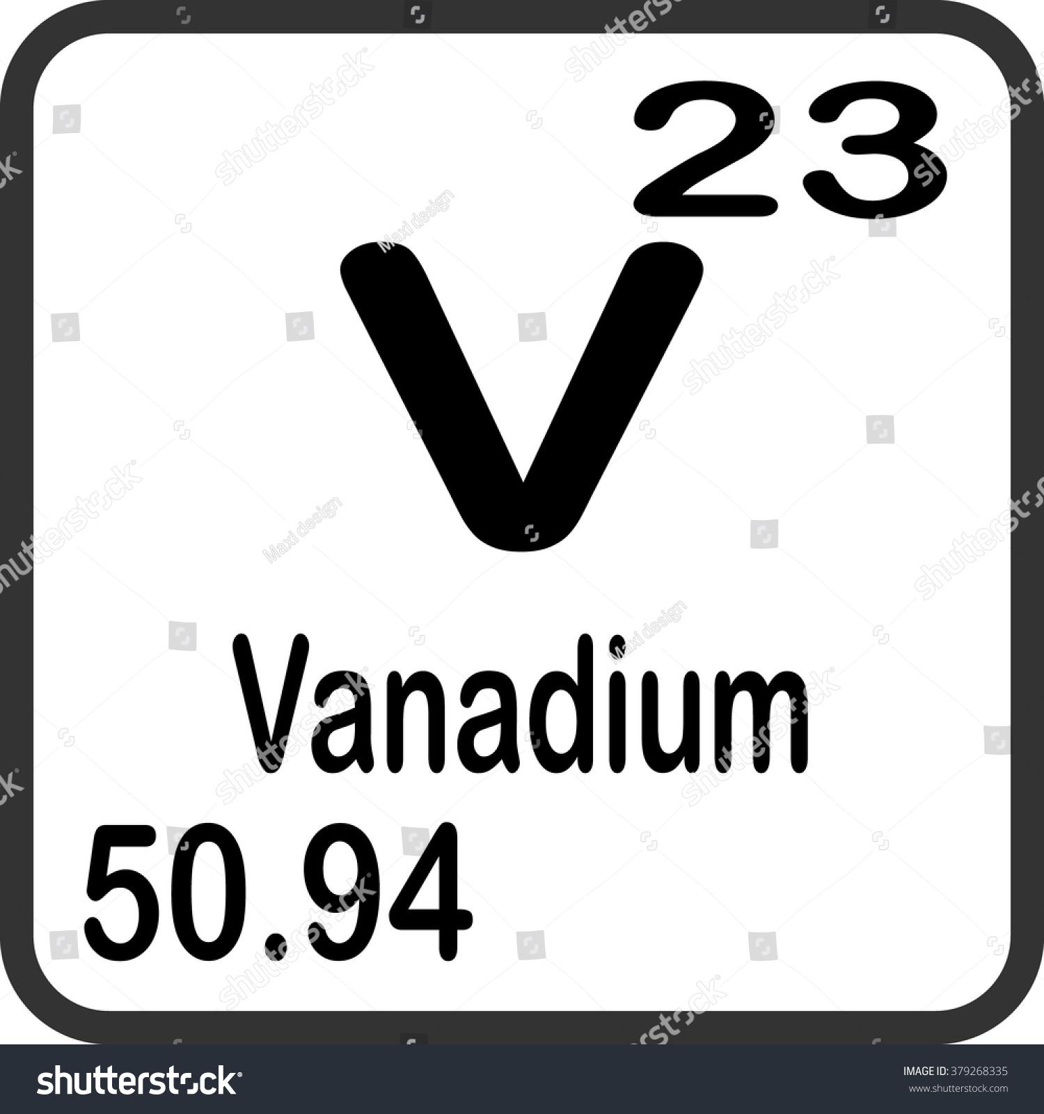 Periodic table elements vanadium stock vector 2018 379268335 periodic table of elements vanadium urtaz Choice Image