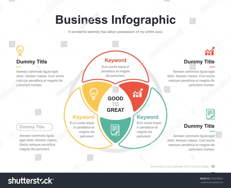 Flat business presentation vector slide template stock vector flat business presentation vector slide template with venn diagram pooptronica