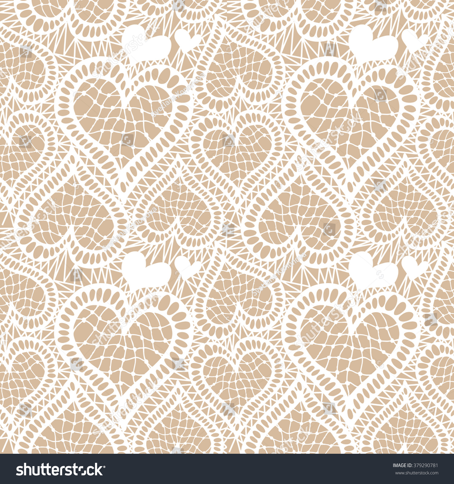 Lace Seamless Hand Drawn Vector Pattern Stock Vector 379290781 ...
