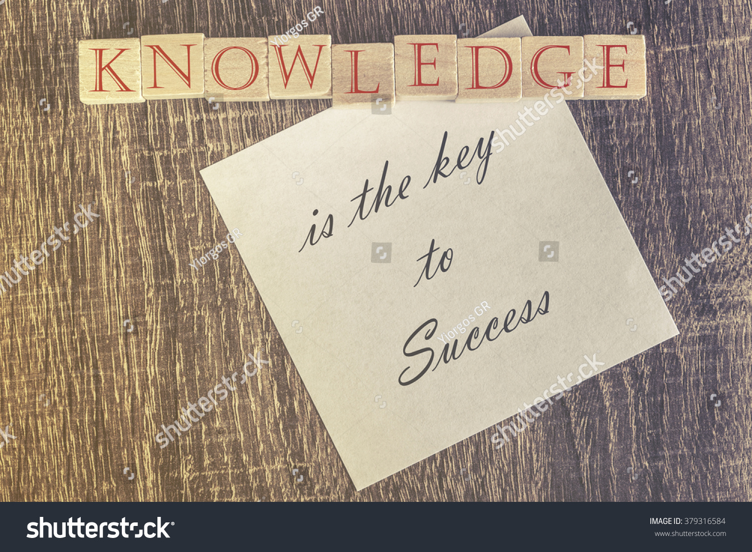 knowledge key success quote cross processed stock photo  knowledge is the key to success quote cross processed image for retro feeling