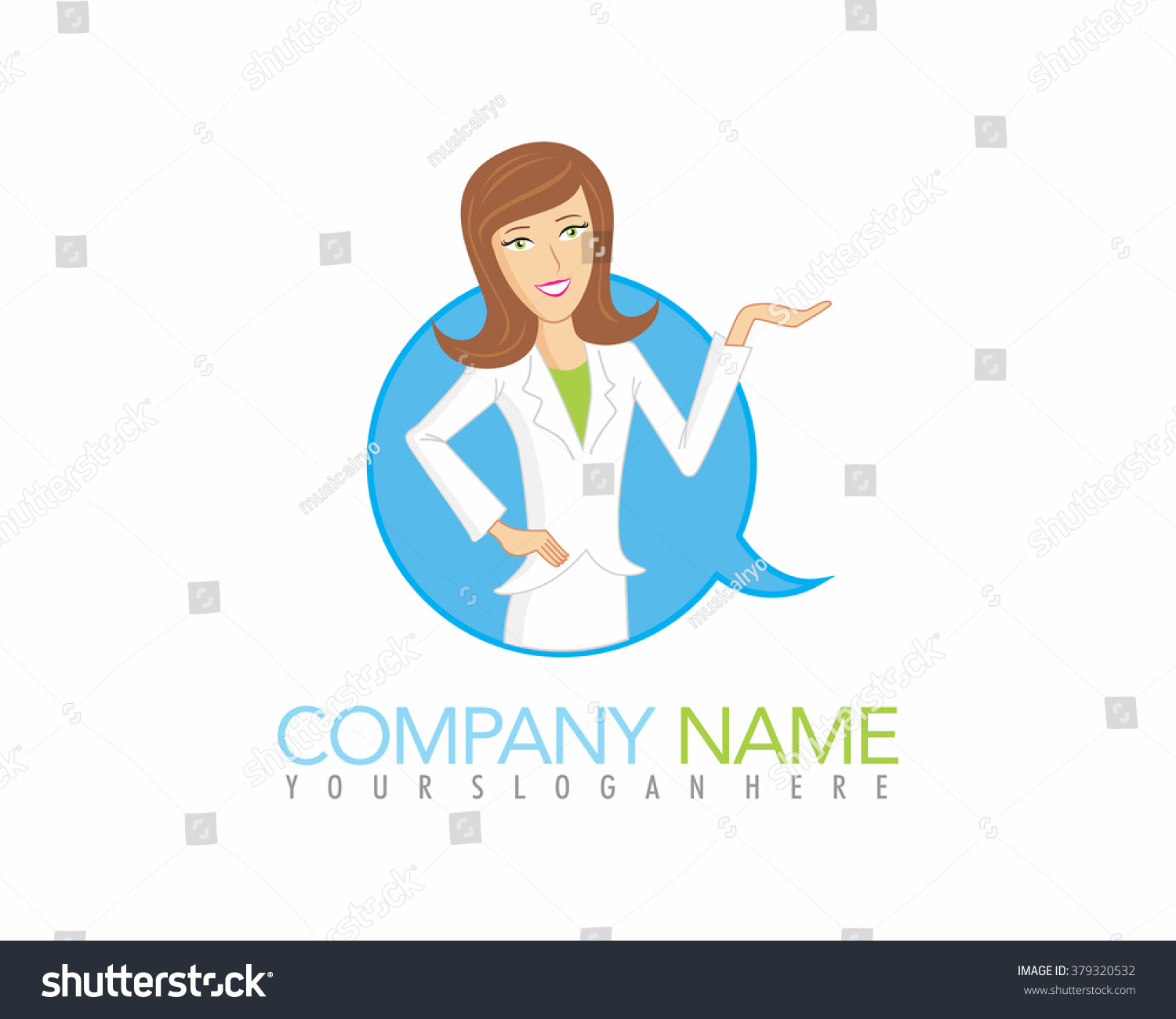 Scientist Woman Female Image Cartoon Character Stock Vector Royalty Free 379320532