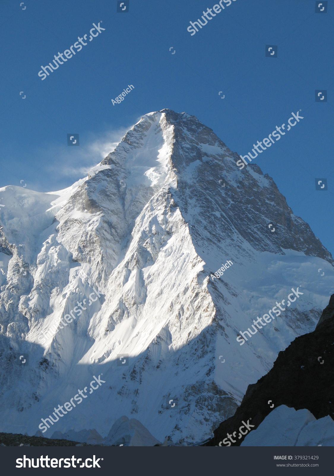 世界第二高的山从西北K2-自然-海洛创意(Hello