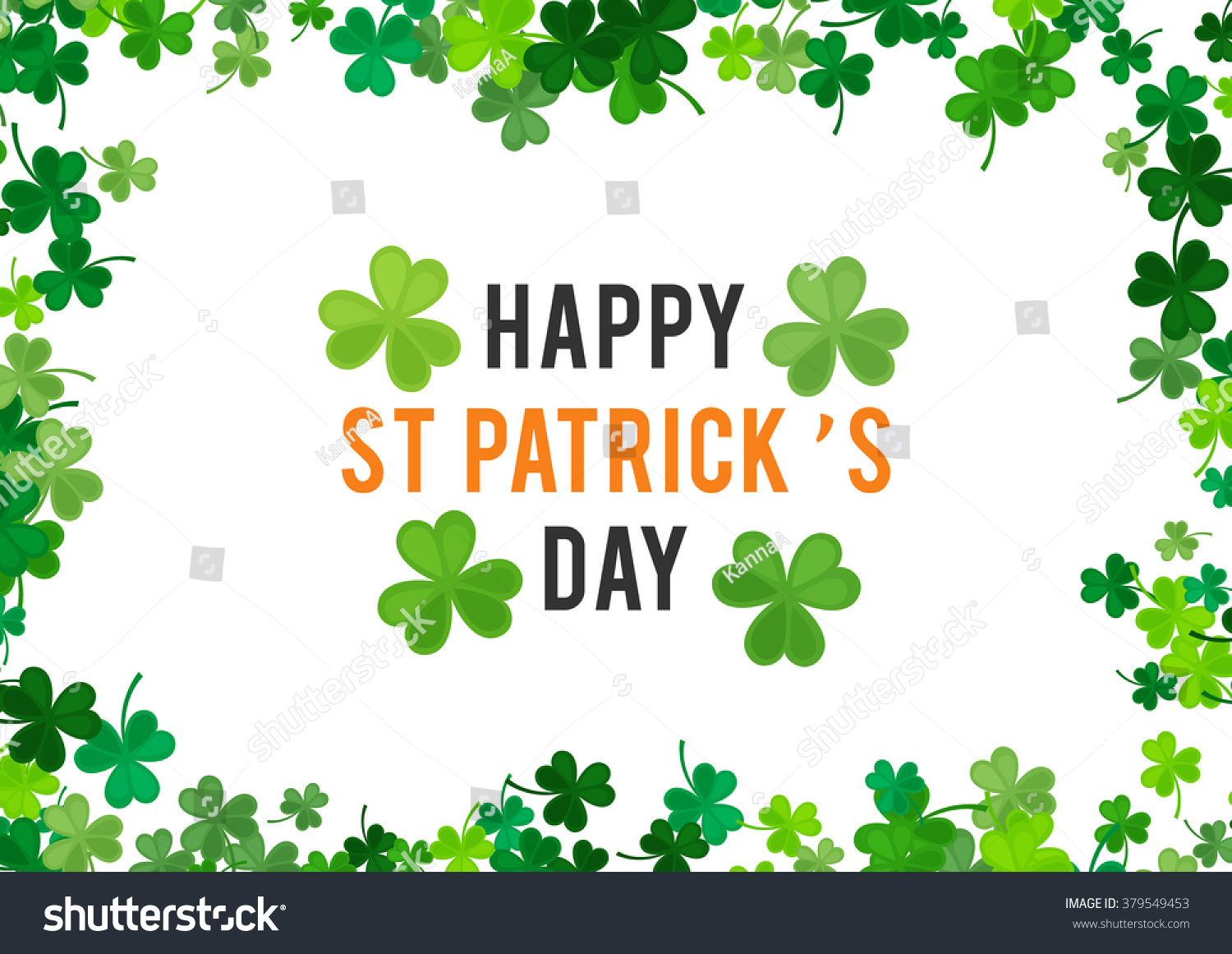 st patricks day background vector illustration stock vector