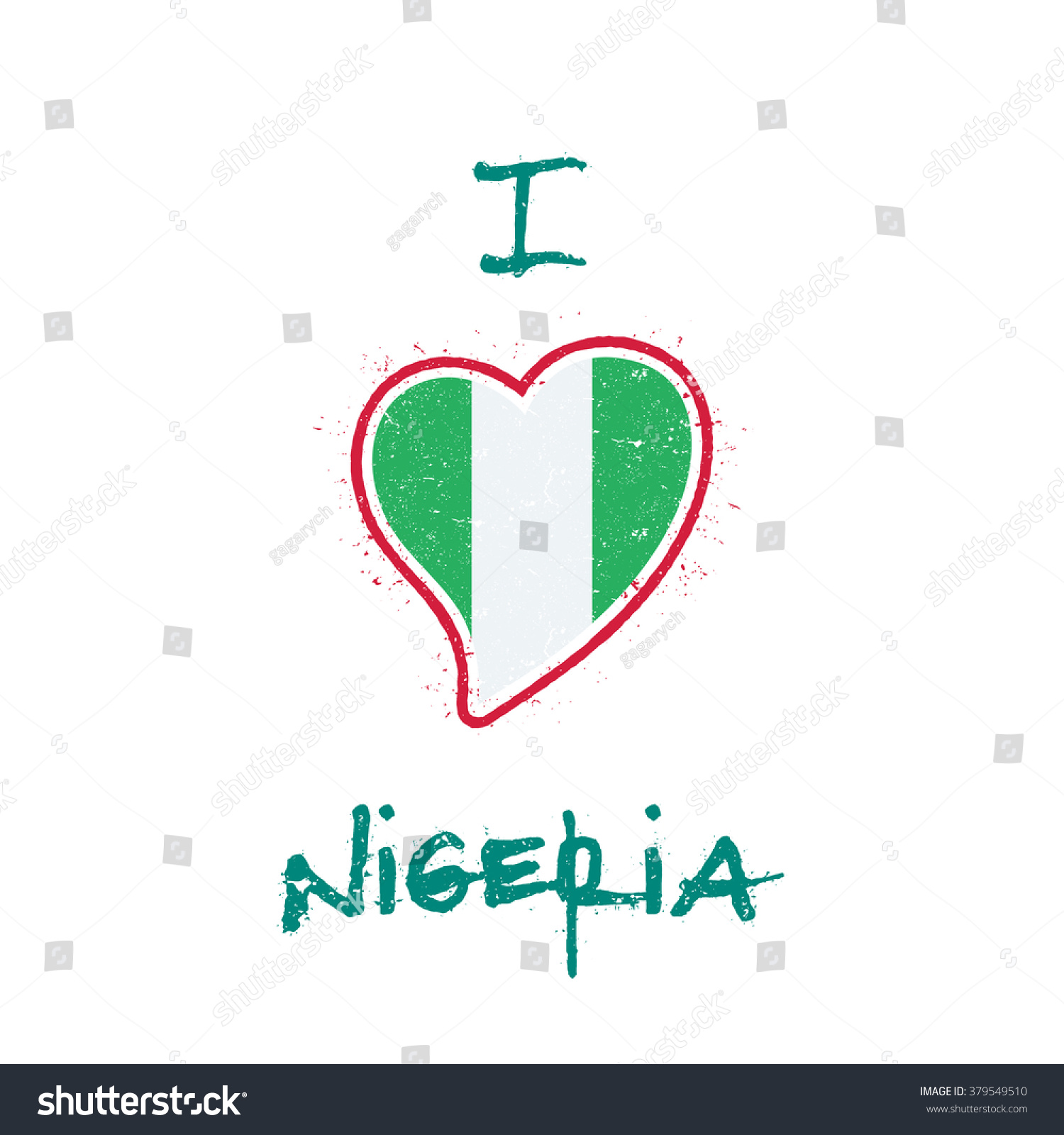 Shirt design in nigeria - Nigeria Flag Patriotic T Shirt Design Heart Shaped National Flag Of Nigeria On White
