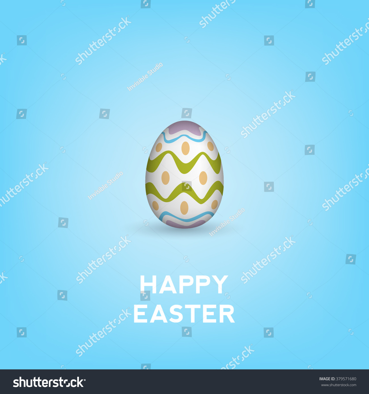 Happy easter gift card stock vector 379571680 shutterstock happy easter gift card negle Images