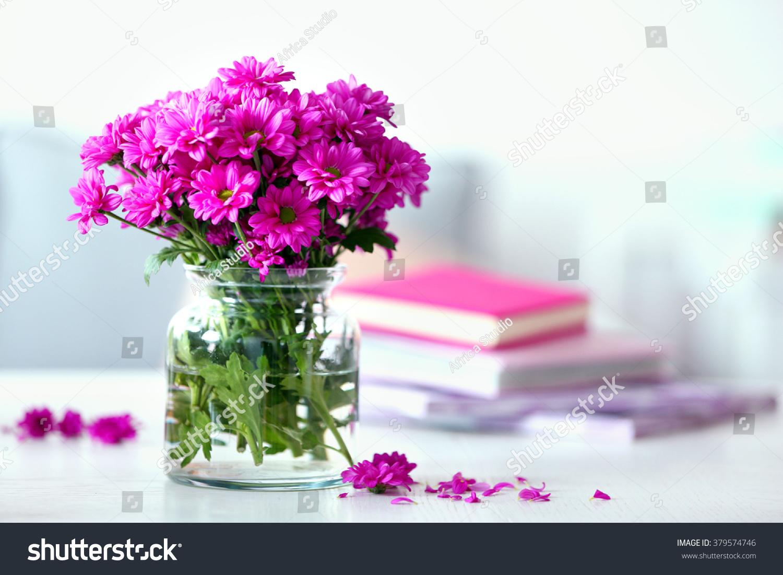 Beautiful flowers vase on table room stock photo 379574746 beautiful flowers in vase on table in room reviewsmspy