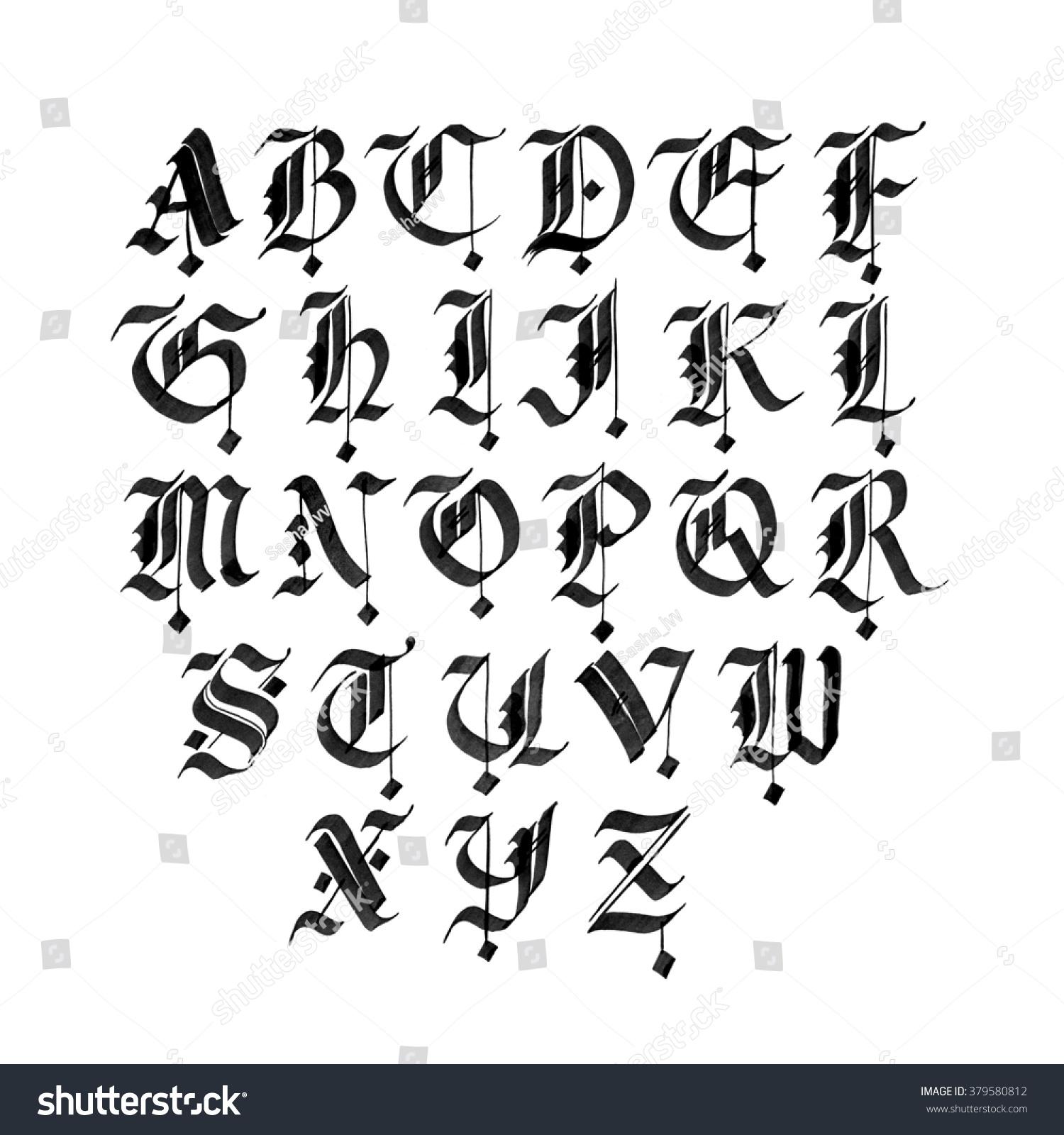 Gothic calligraphy fonts imgkid the image kid