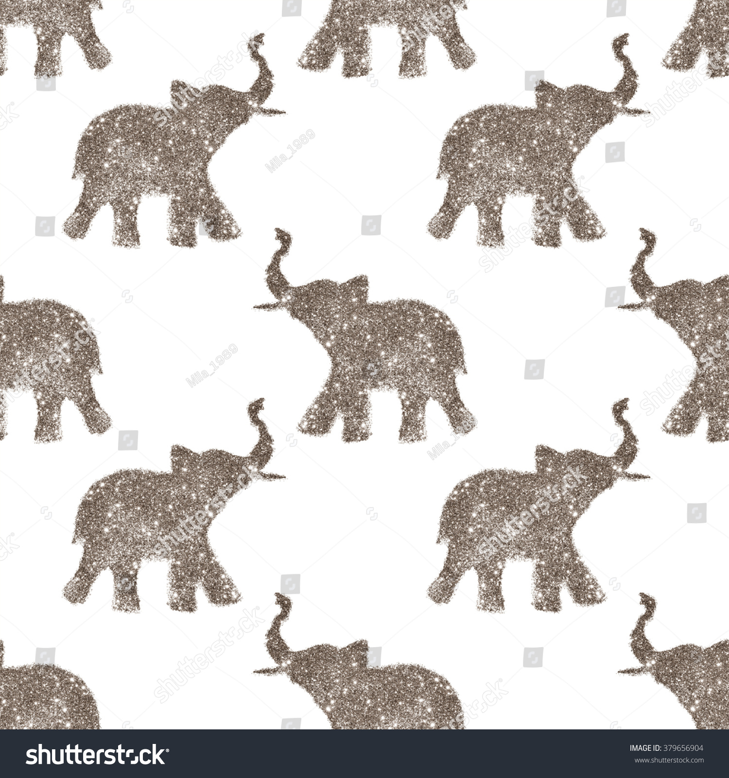 Seamless pattern nice abstract elephants glitter stock seamless pattern with nice abstract elephants of glitter their trunks raised up good luck biocorpaavc