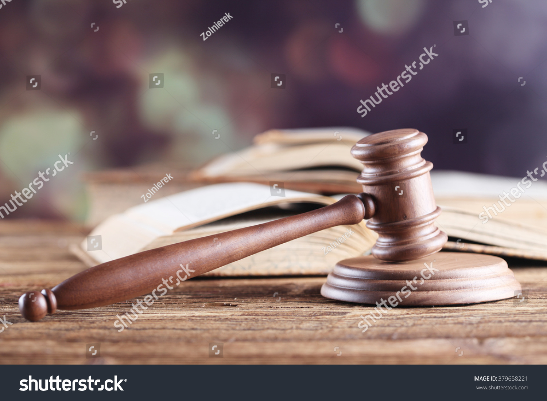Law Theme Mallet Judge Wooden Gavel Stock Photo 379658221 ...