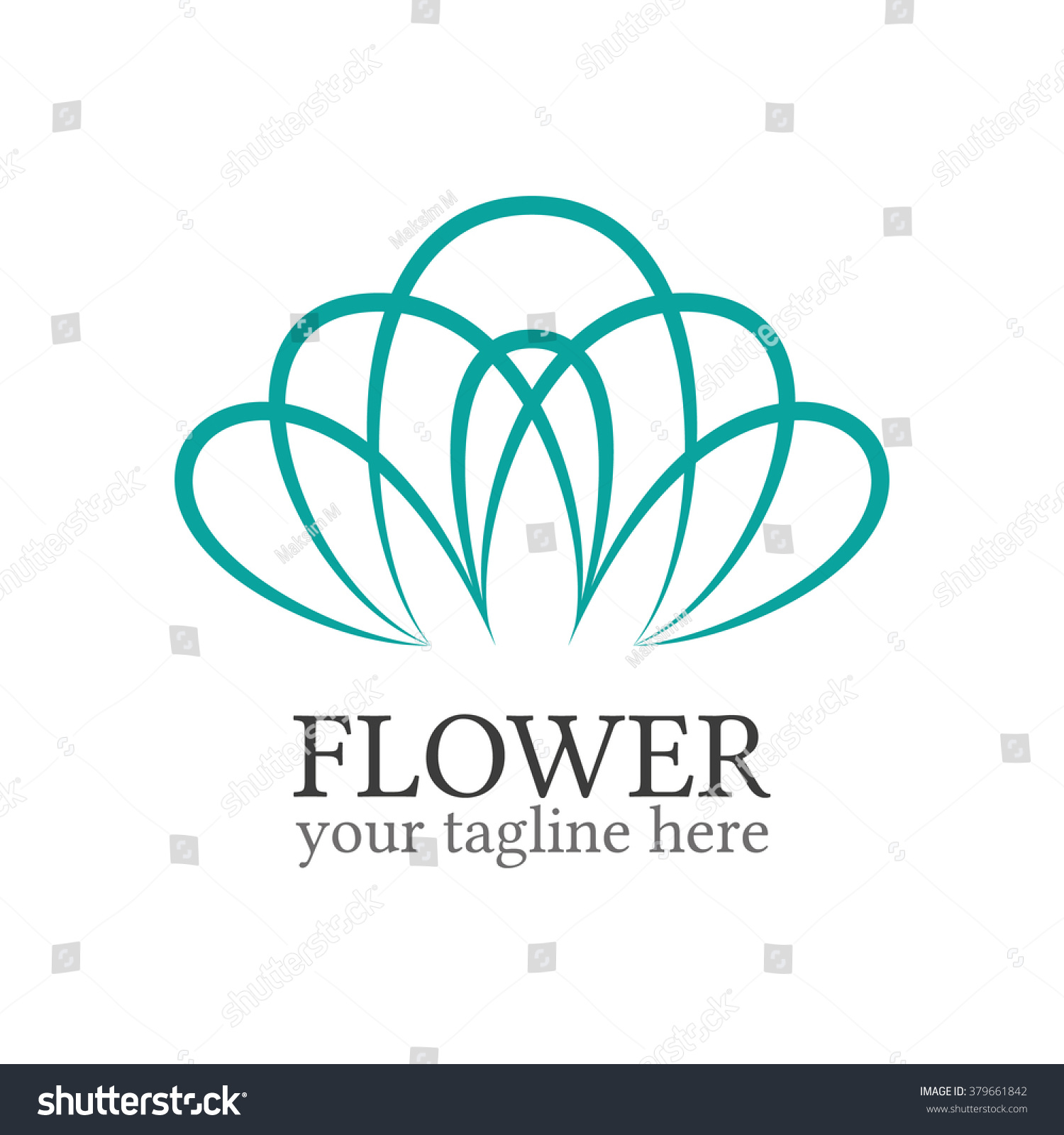 abstract flower logo template floral logo stock vector royalty free