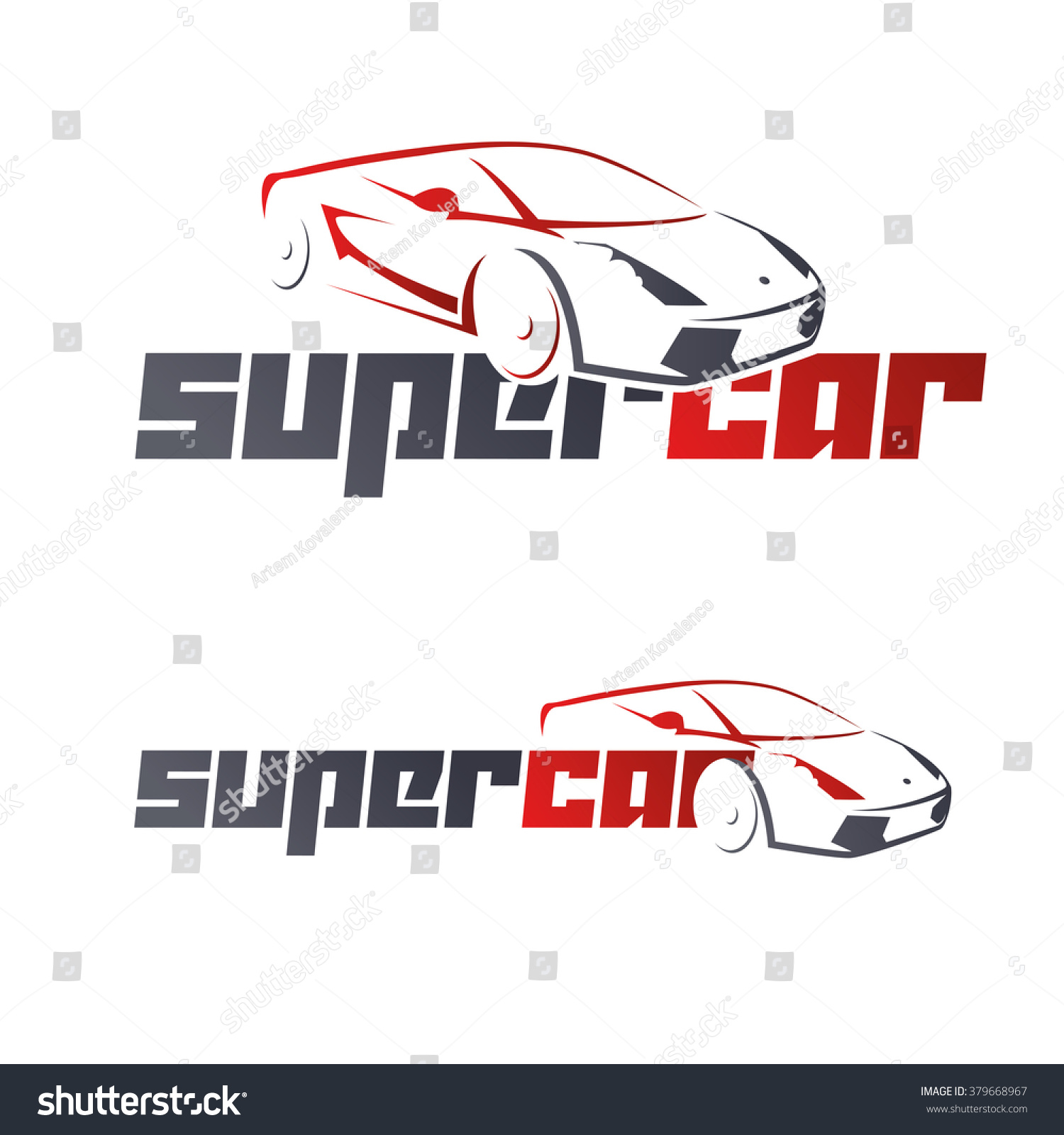 Abstract Car Design Concept Automotive Topics Stockvector